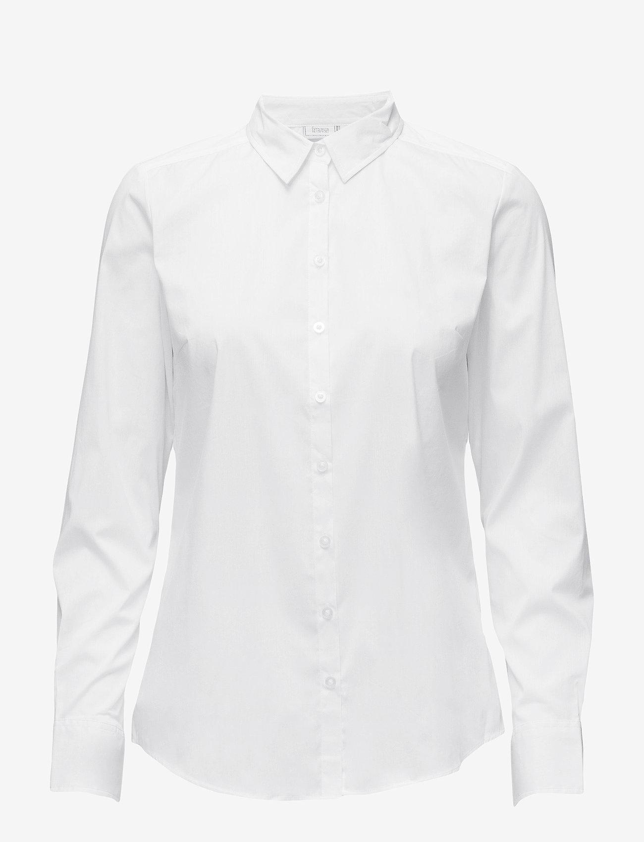 Fransa - Zashirt 1 Shirt - pitkähihaiset paidat - white - 0