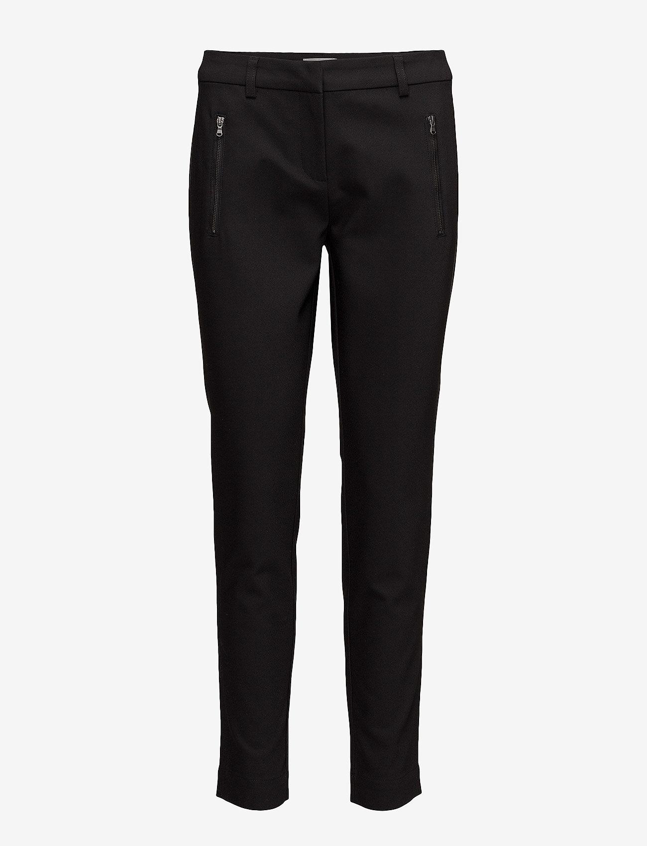 Fransa - Zapant 1 Pants - broeken med straight ben - black - 0