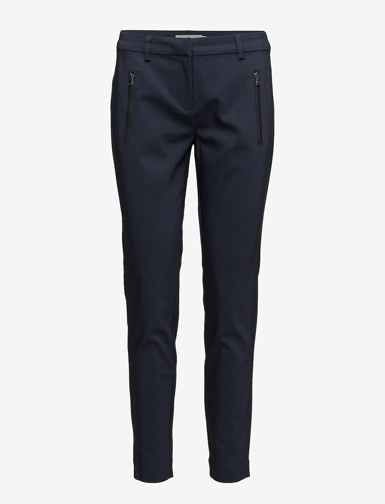 Fransa - Zapant 1 Pants - broeken med straight ben - dark peacoat - 0
