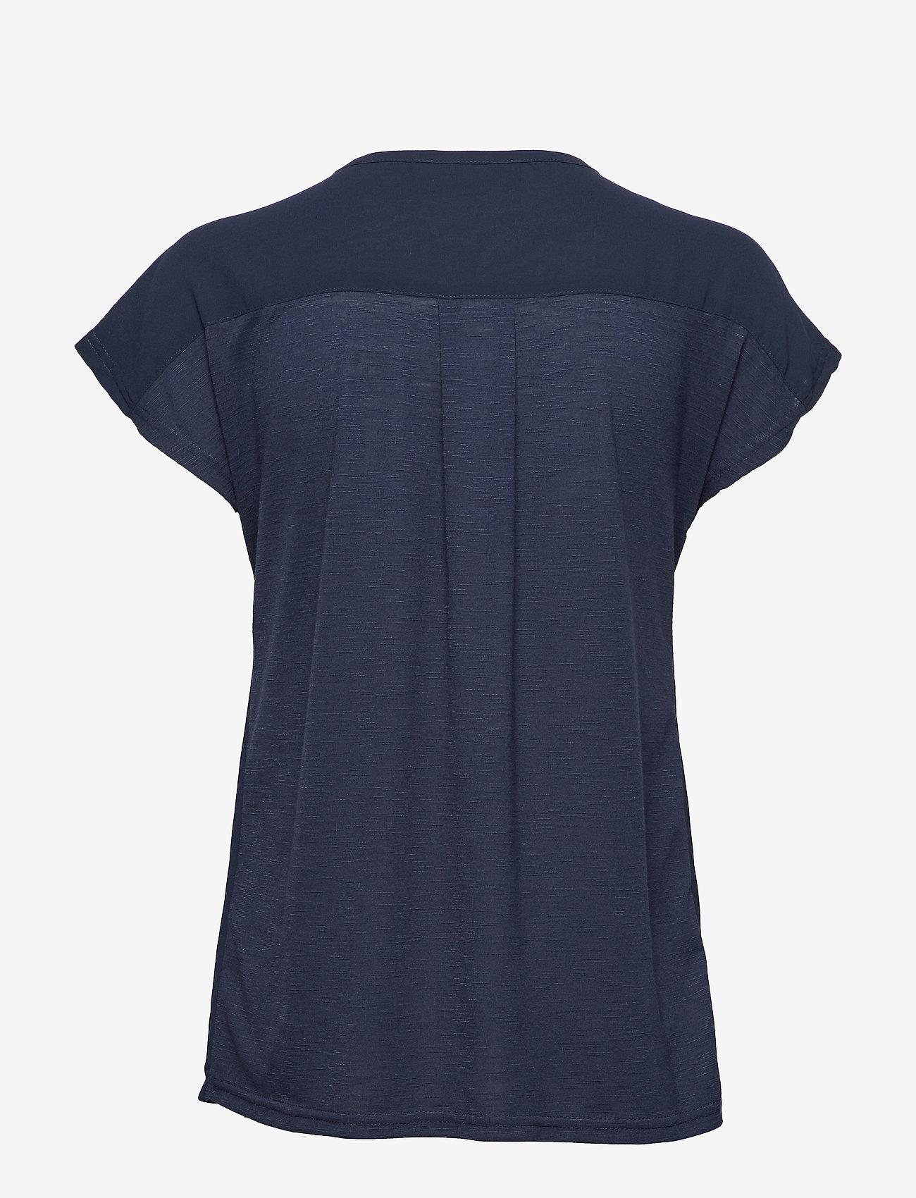 Fransa - Zawov 2 Blouse - t-shirts - black iris - 1