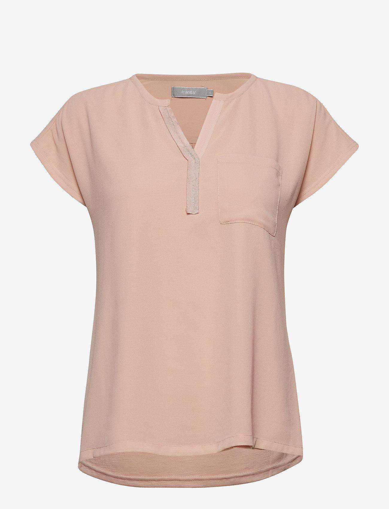 Fransa - Zawov 2 Blouse - t-shirts - misty rose - 0