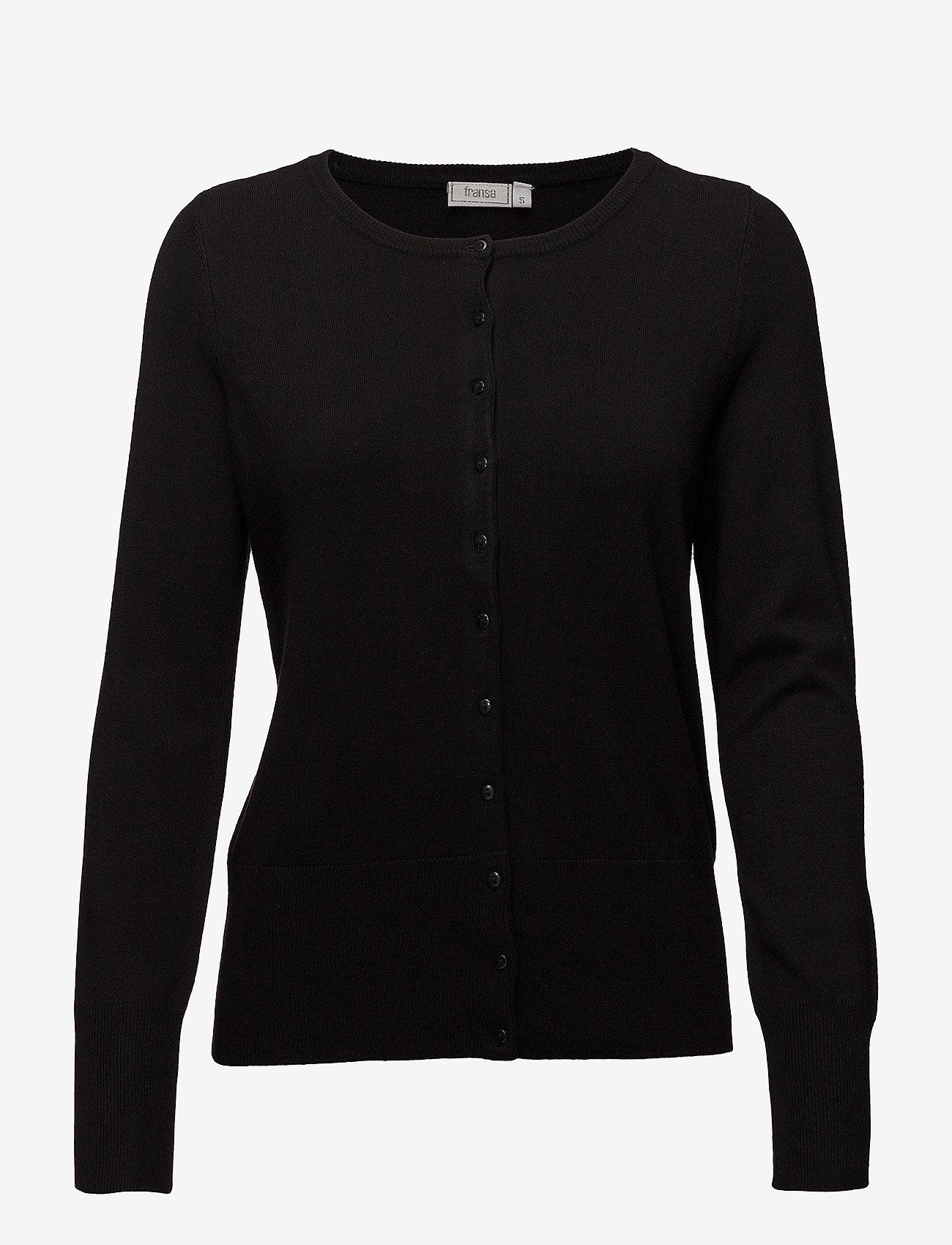 Fransa - Zubasic 60 Cardigan - vesten - black - 0