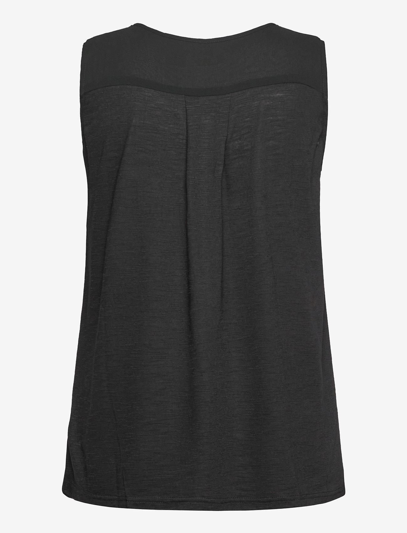 Fransa - Zawov 3 Top - sleeveless tops - black - 1