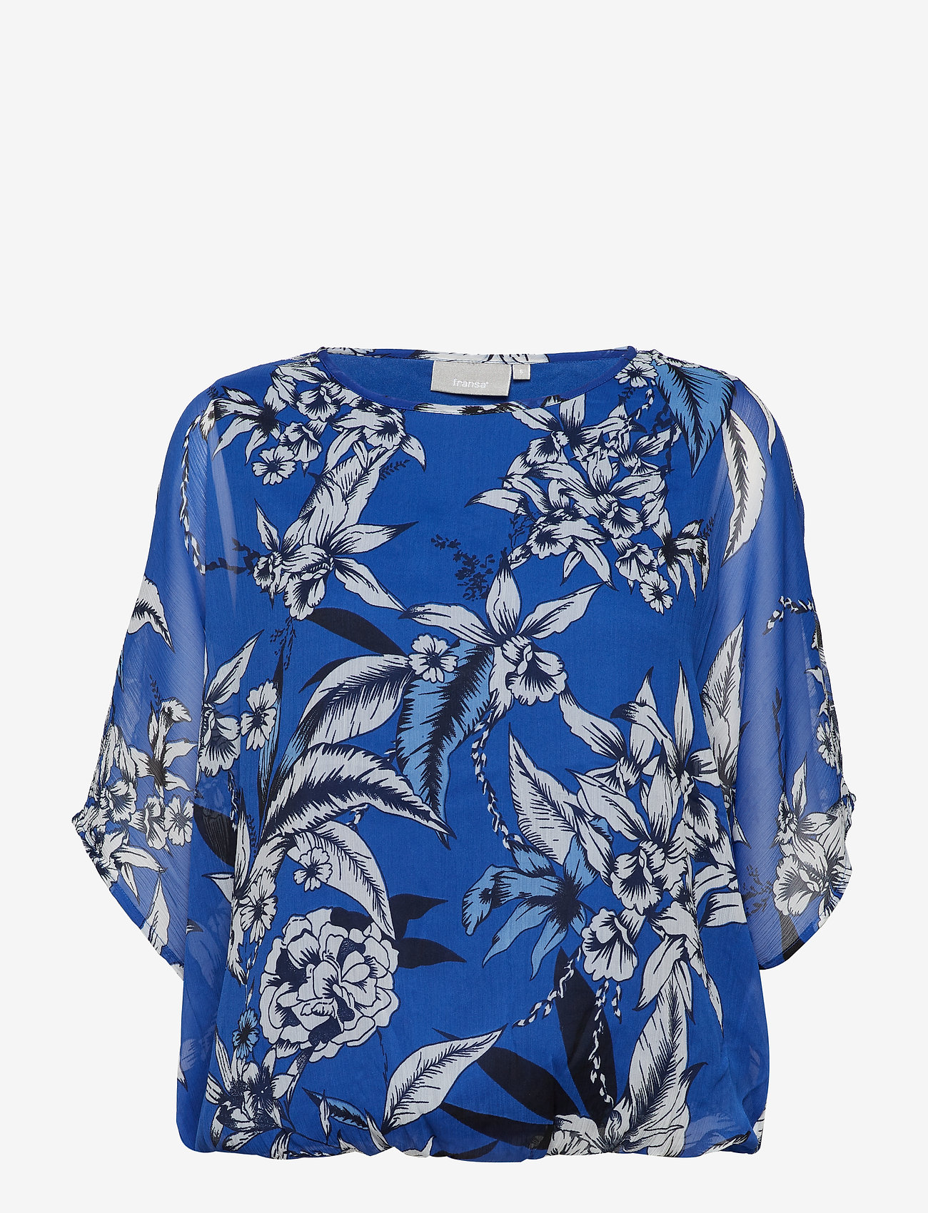 Fransa - Pachif 2 Top - long sleeved blouses - surf blue mix