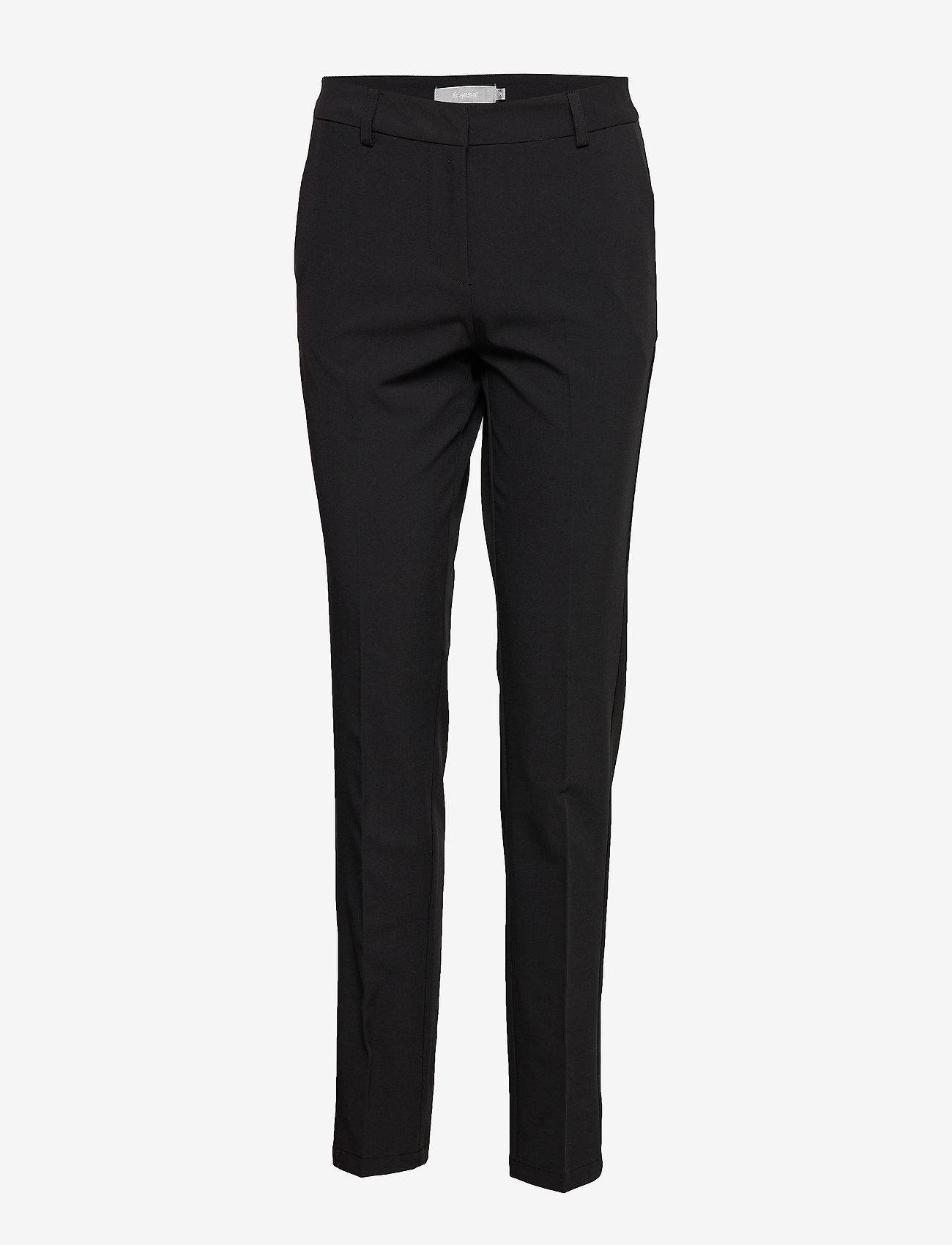 Fransa - Zano 2 Pants - bukser med lige ben - black - 0
