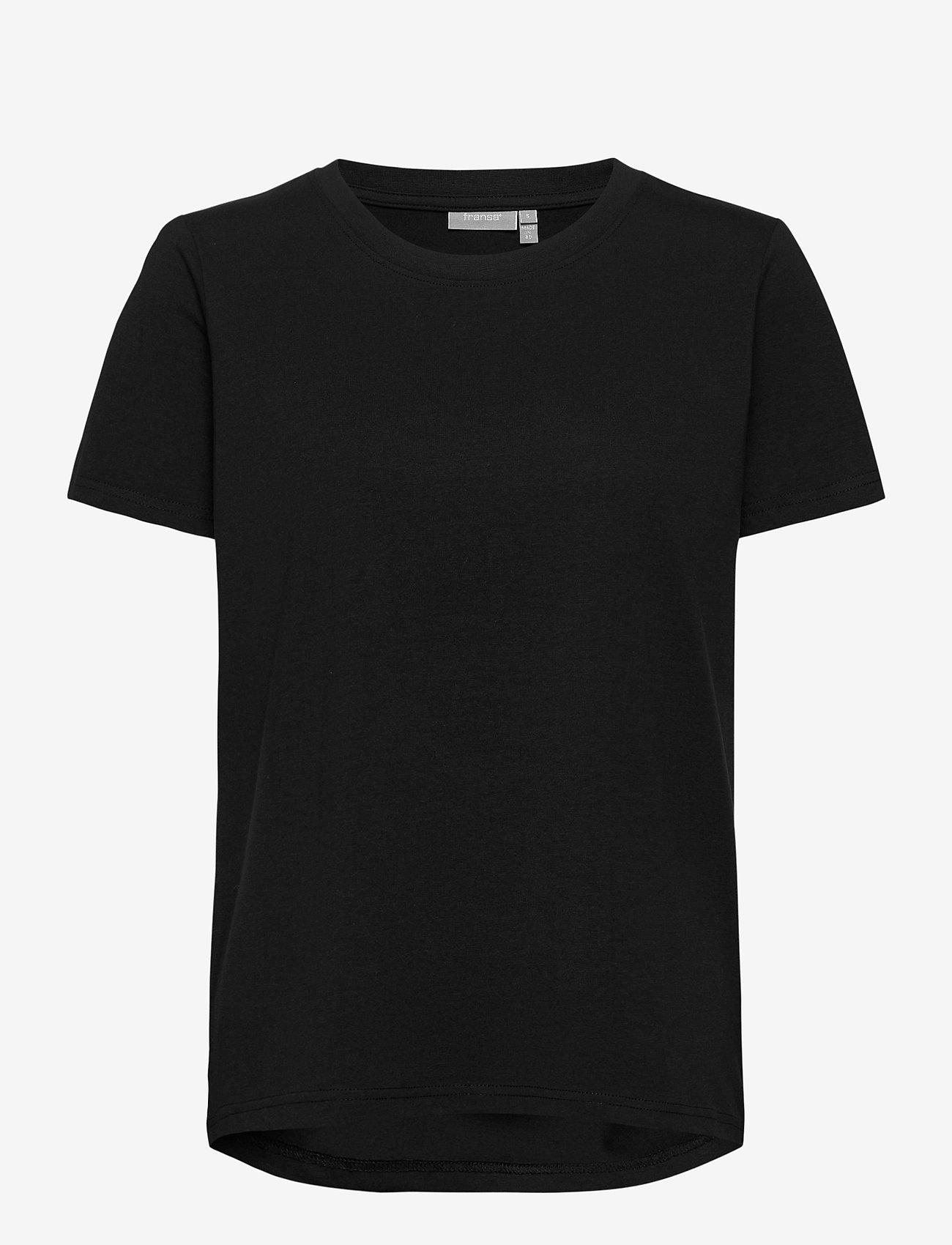 Fransa - Zashoulder 1 T-shirt - t-shirts - black - 0