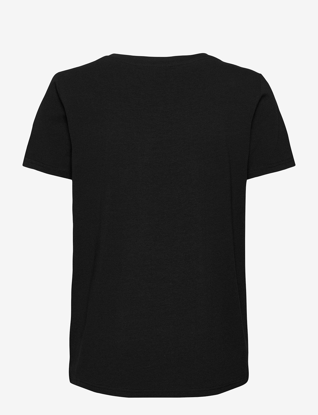 Fransa - Zashoulder 1 T-shirt - t-shirts - black - 1