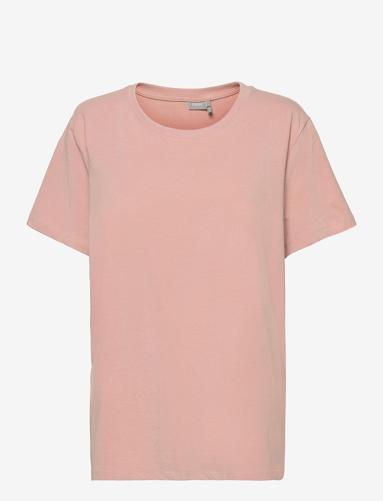 Fransa - Zashoulder 1 T-shirt - t-shirts - misty rose - 0
