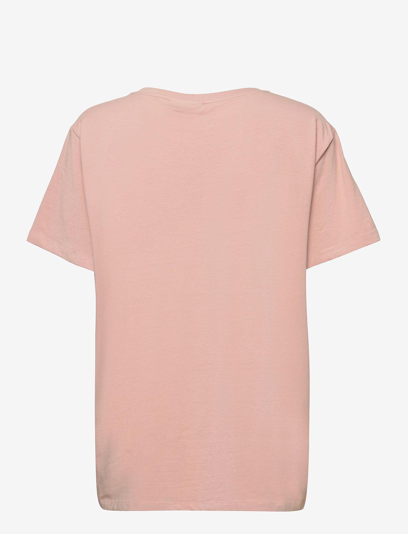 Fransa - Zashoulder 1 T-shirt - t-shirts - misty rose - 1
