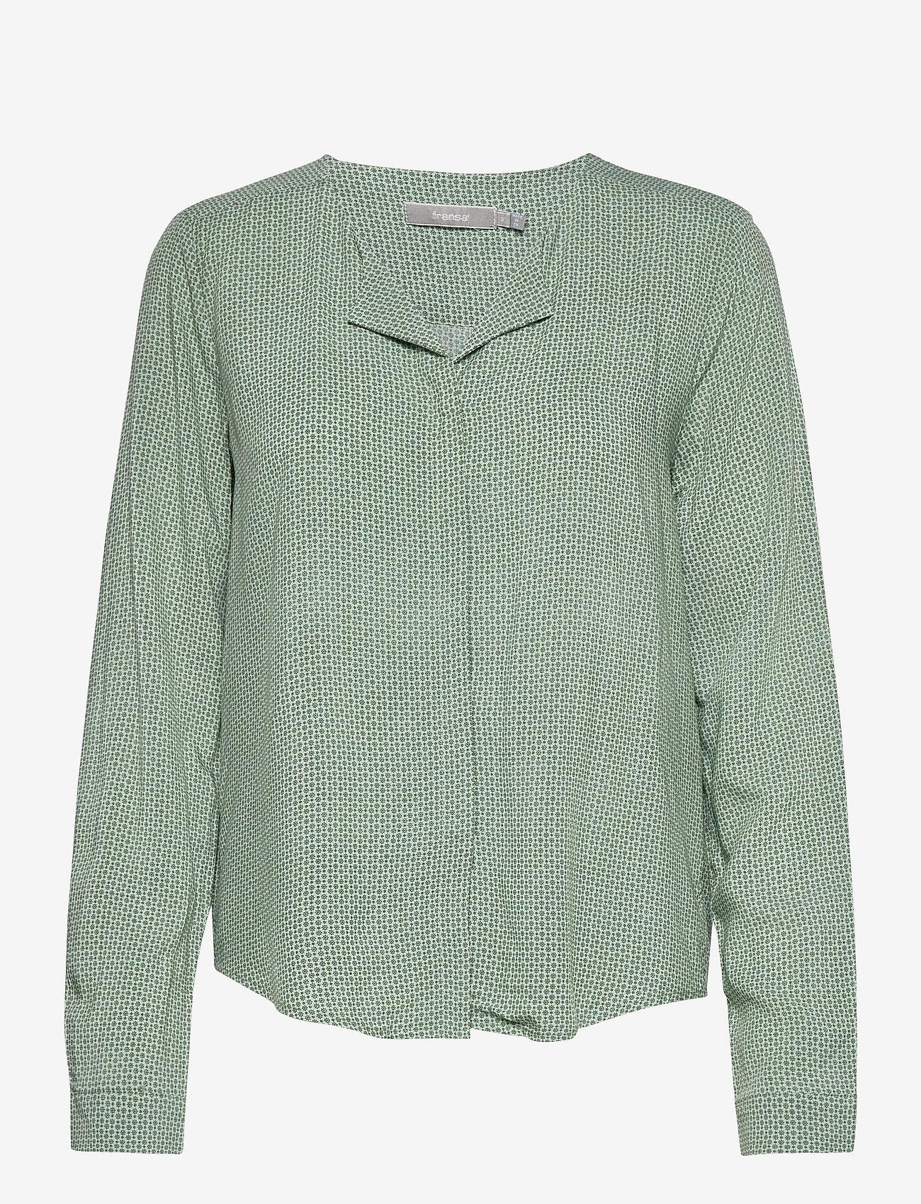 Fransa - FRHAZAVISK 1 Shirt - blouses met lange mouwen - aqua foam mix - 0