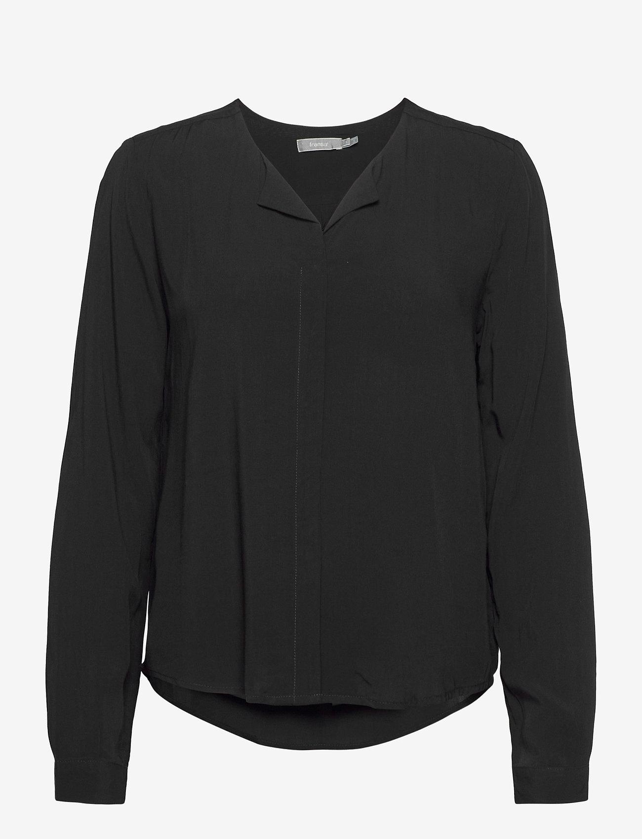 Fransa - FRHAZAVISK 1 Shirt - blouses met lange mouwen - (noos) black - 0