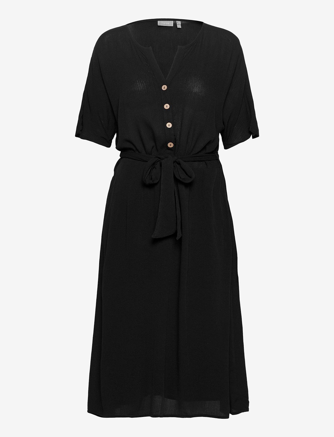 Fransa - FRJASOFTY 6 Dress - midi jurken - black - 0