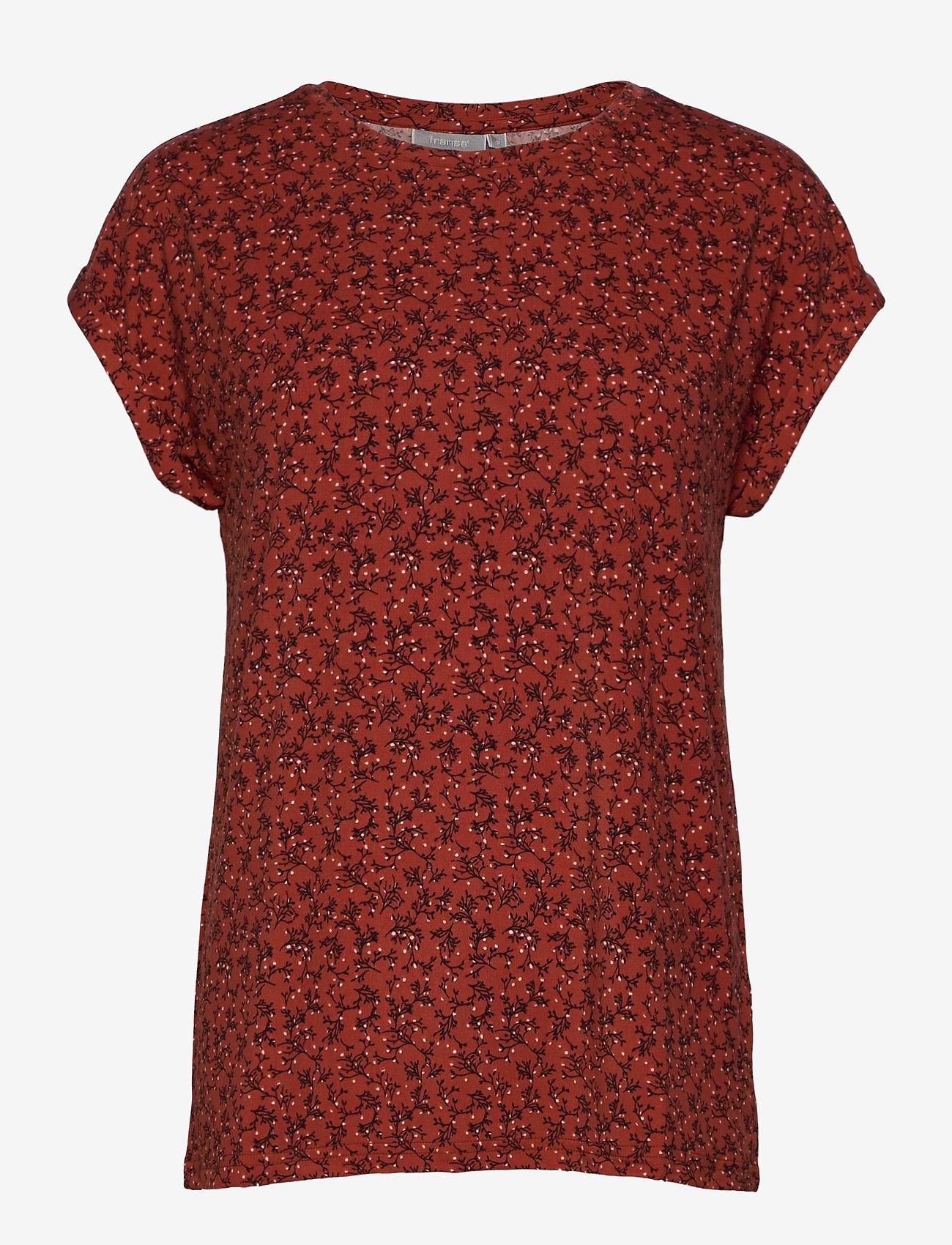 Fransa - FRLESEEN 1 T-shirt - t-shirts - barn red mix - 0
