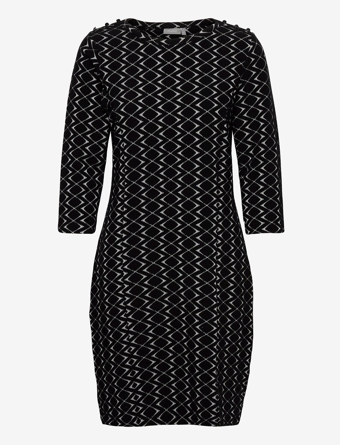 Fransa - FRMEVAR 1 Dress - alledaagse jurken - black mix - 0