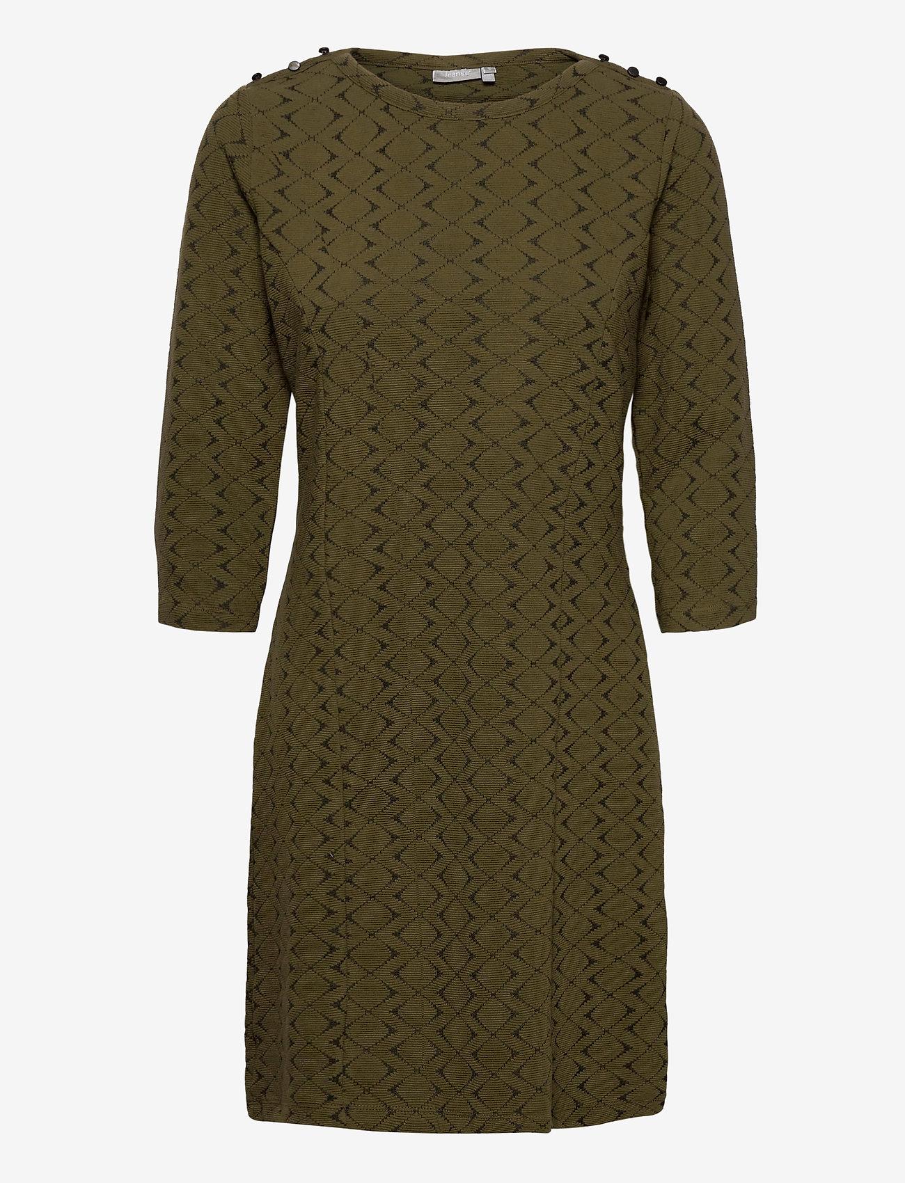 Fransa - FRMEVAR 1 Dress - alledaagse jurken - dark olive mix - 0