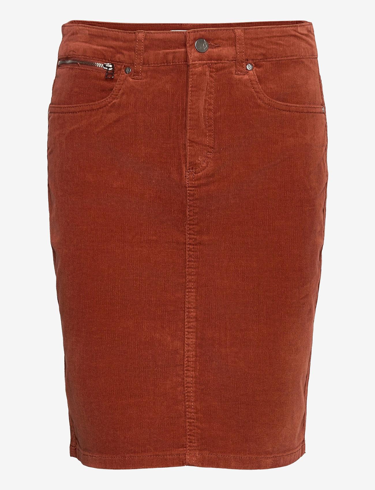 Fransa - FRMACORD 2 Skirt - pencil skirts - burnt henna - 0