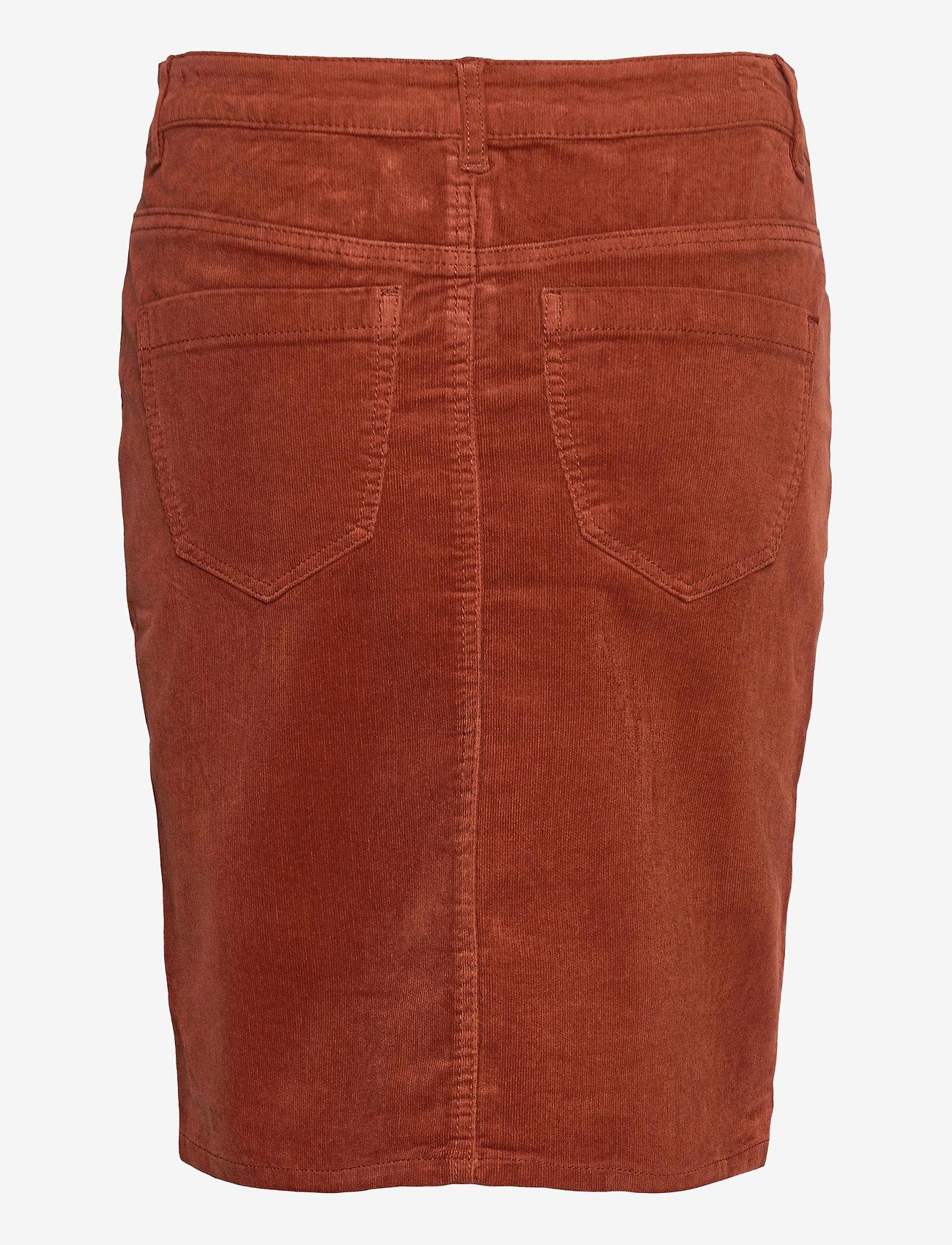 Fransa - FRMACORD 2 Skirt - pencil skirts - burnt henna - 1