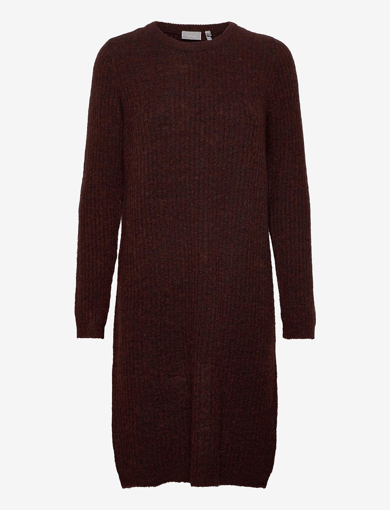 Fransa - FRMESANDY 3 Dress - gebreide jurken - chocolate fondant melange - 0