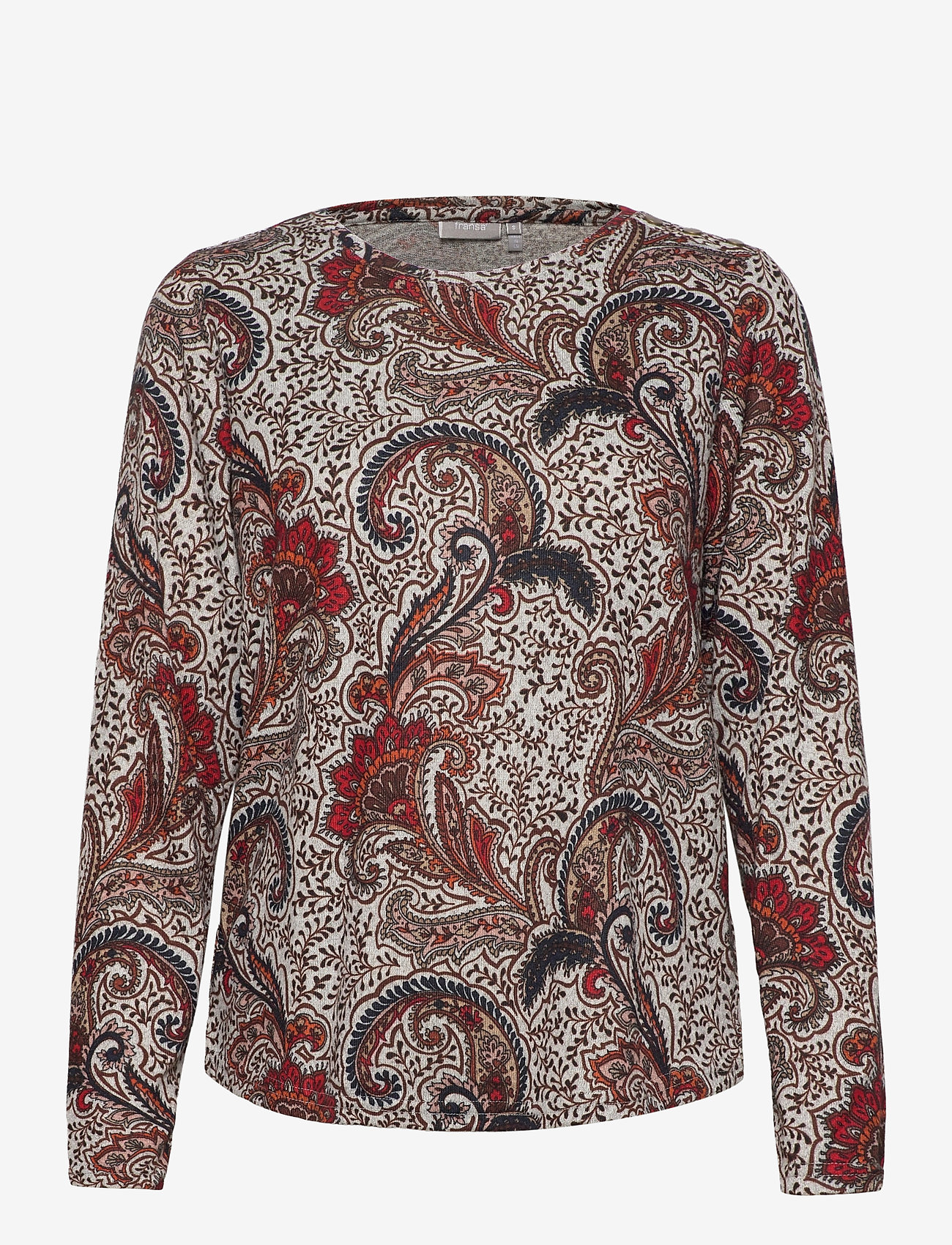 Fransa - FRMESOFT 1 Pullover - pitkähihaiset t-paidat - light grey melange mix - 0