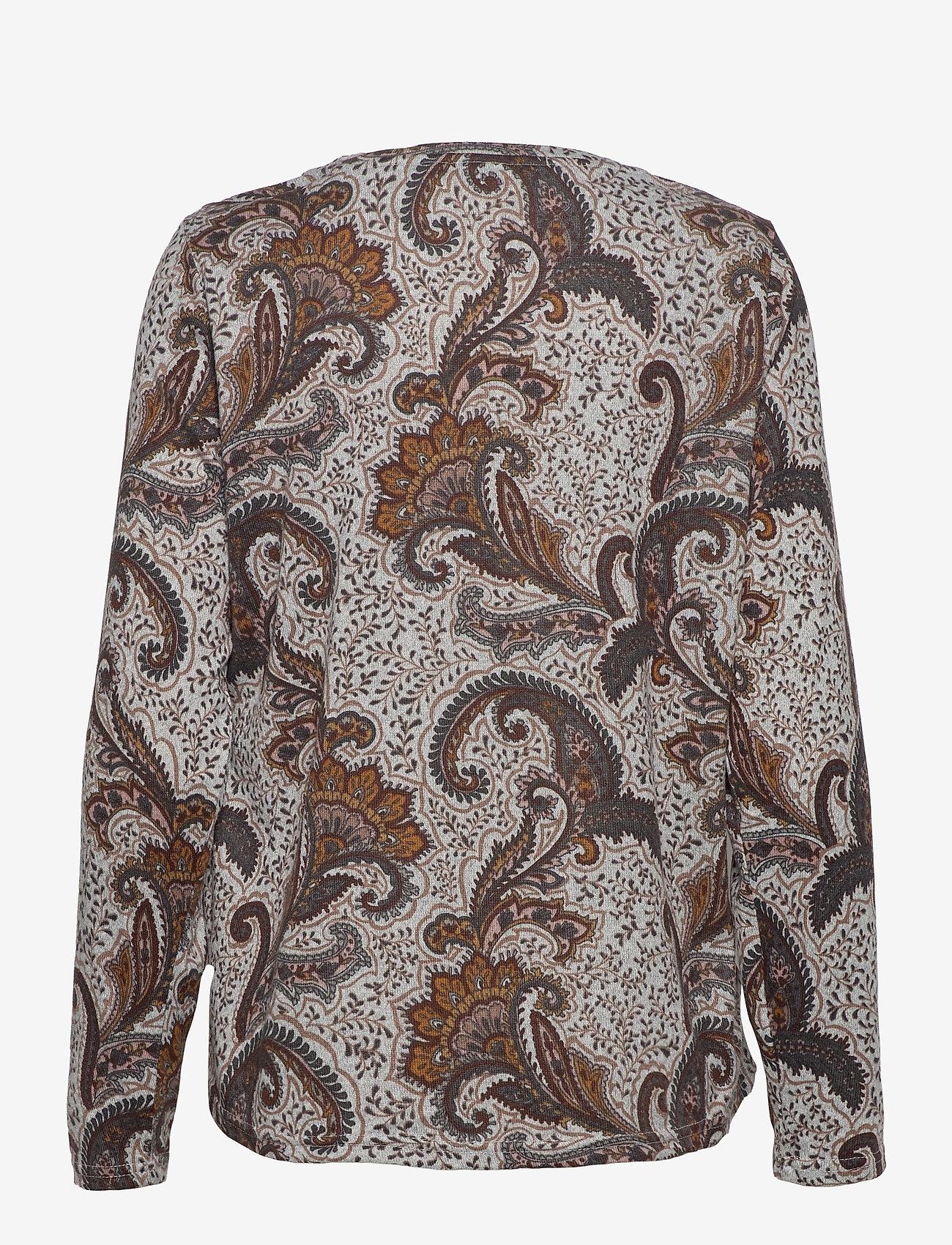 Fransa - FRMESOFT 1 Pullover - langermede topper - light grey mel. w. paisley - 1