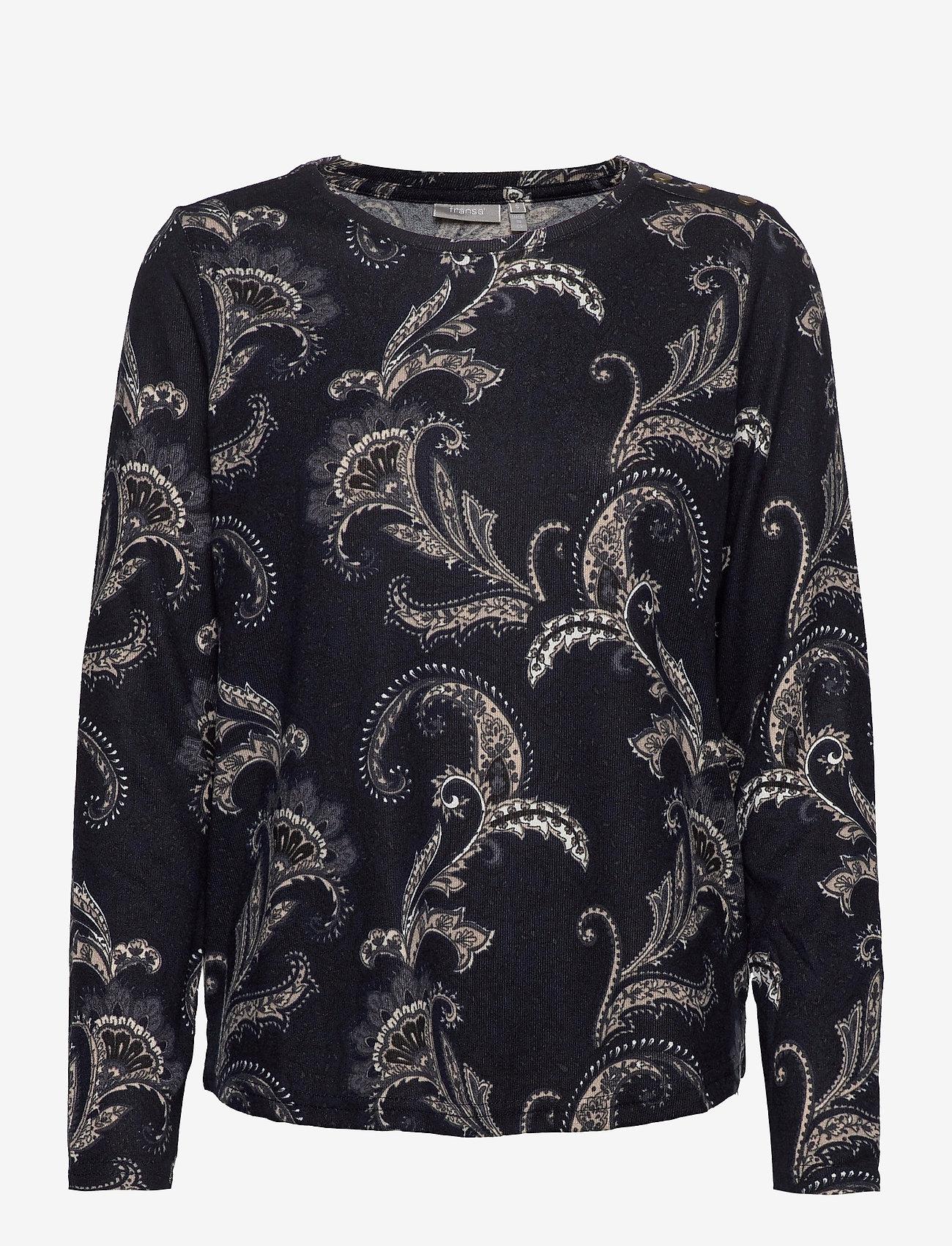 Fransa - FRMESOFT 1 Pullover - pitkähihaiset t-paidat - navy blazer mix - 0