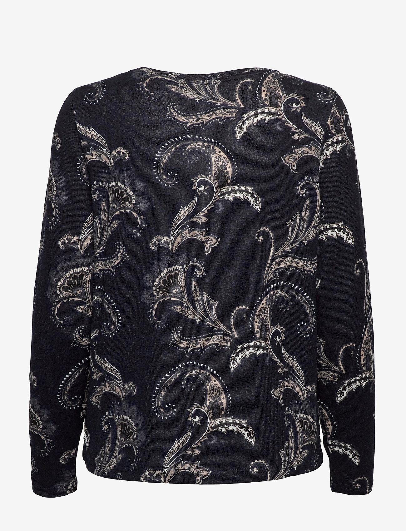 Fransa - FRMESOFT 1 Pullover - pitkähihaiset t-paidat - navy blazer mix - 1