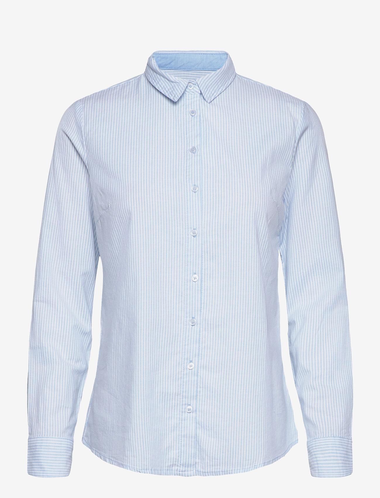 Fransa - FRZAOXFORD 1 Shirt - pitkähihaiset paidat - blue chambré stripes - 0