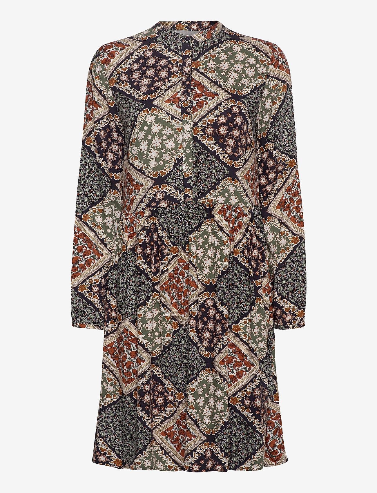 Fransa - FXSUTRIPE 8 Dress - midi jurken - navy blazer mix - 0