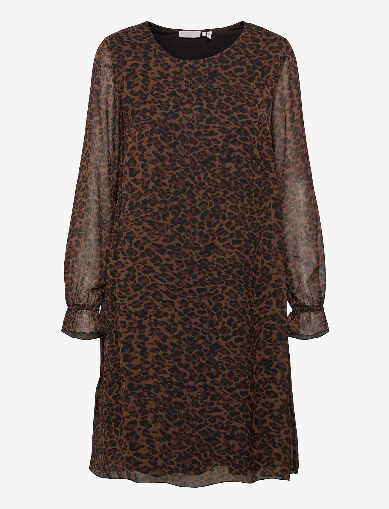 Fransa - FRMALEO 1 Dress - korte jurken - chocolate fondant mix - 0