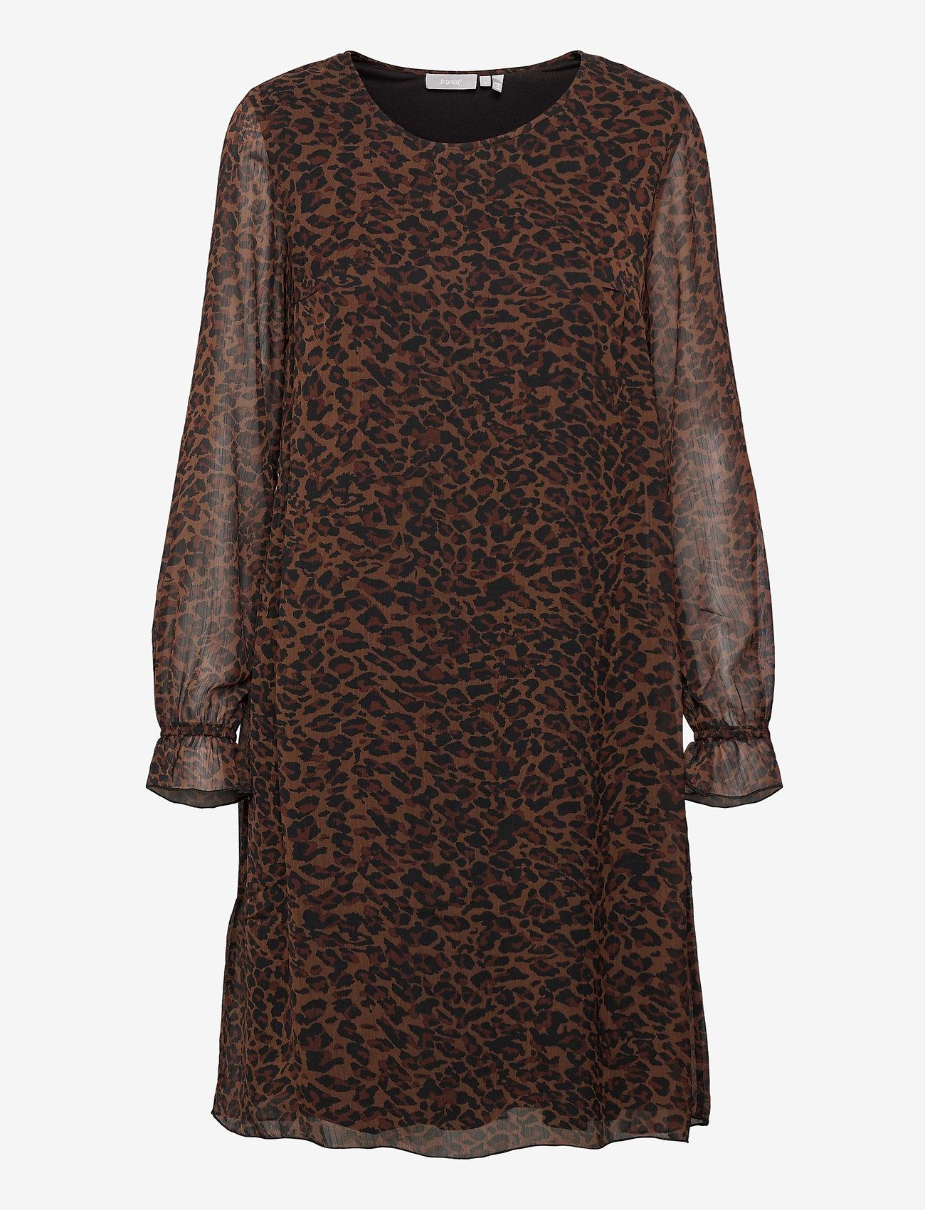 Fransa - FRMALEO 1 Dress - korte jurken - chocolate fondant mix - 1
