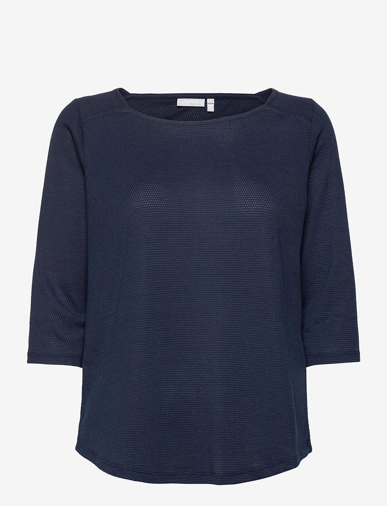 Fransa - FRPEJACQ 1 T-shirt - pitkähihaiset t-paidat - navy blazer - 0