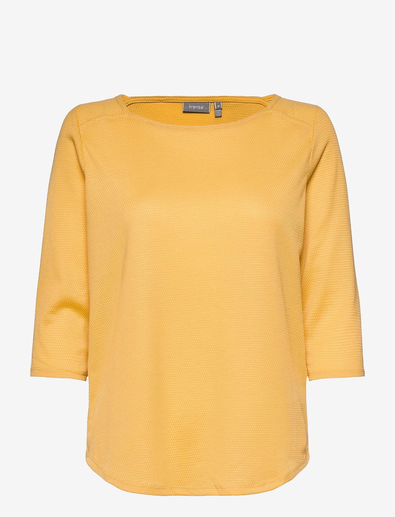 Fransa - FRPEJACQ 1 T-shirt - pitkähihaiset t-paidat - ochre - 0