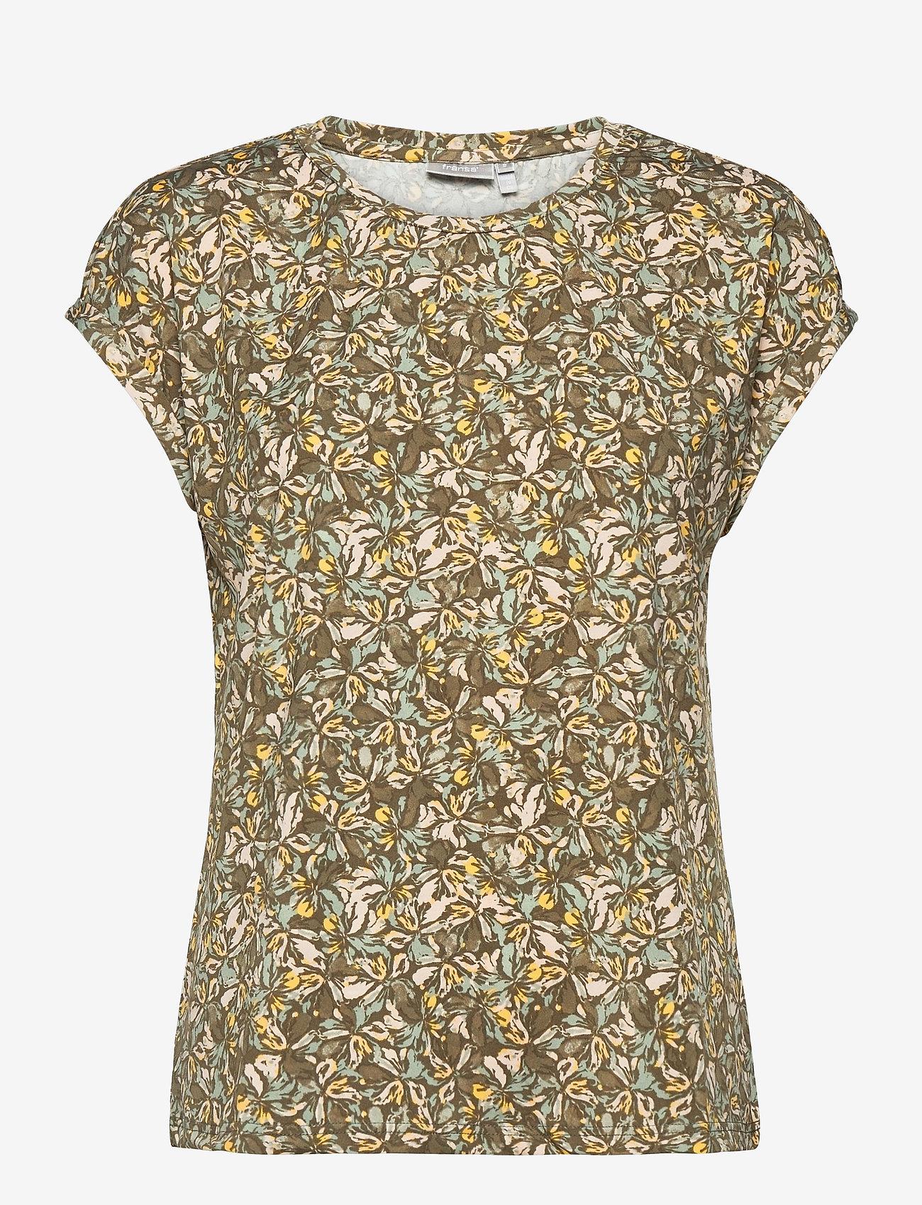 Fransa - FRPESEEN 1 T-shirt - t-shirts - lily pad mix - 0