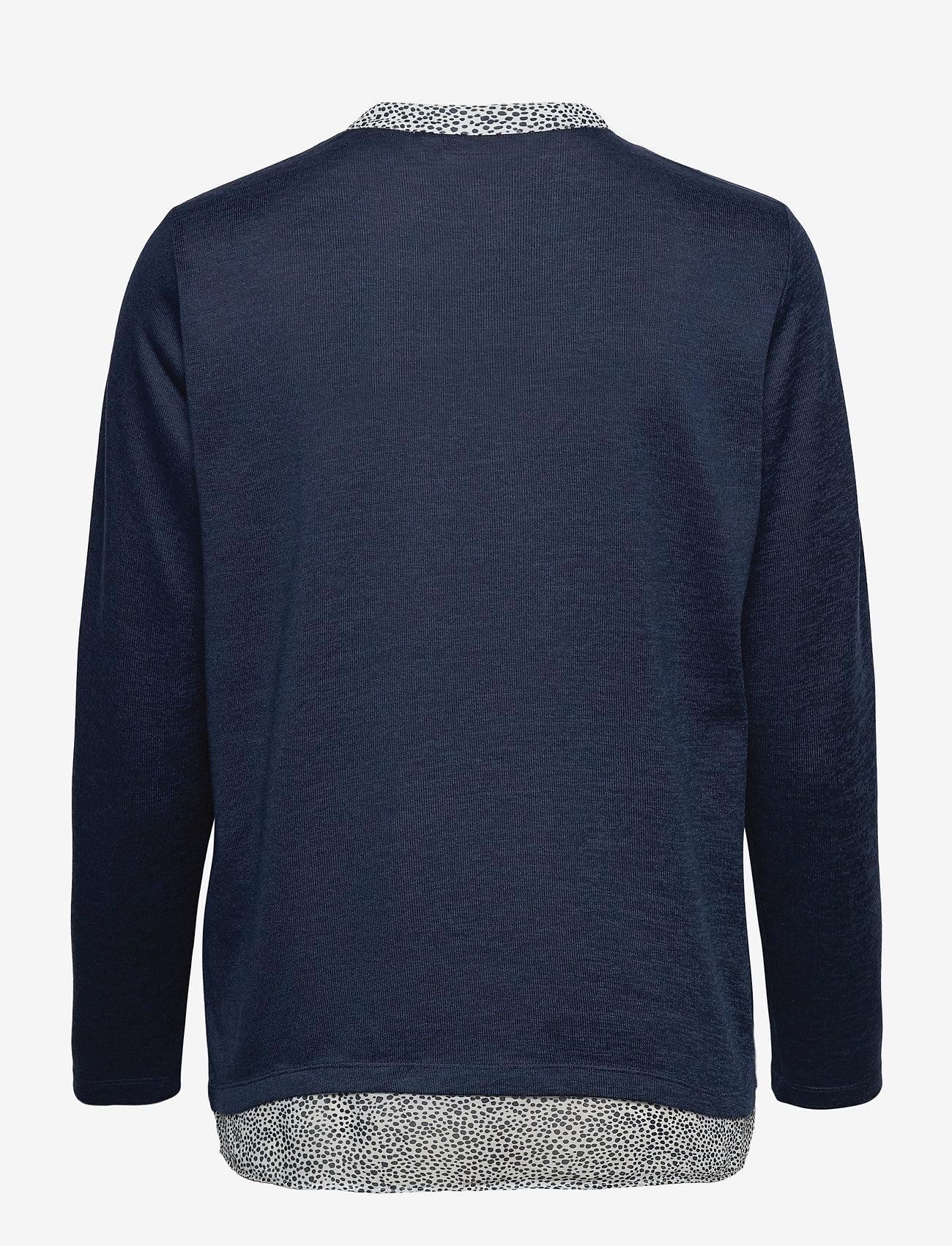 Fransa - FRPEREXAN 1 Pullover - jumpers - navy blazer melange - 1