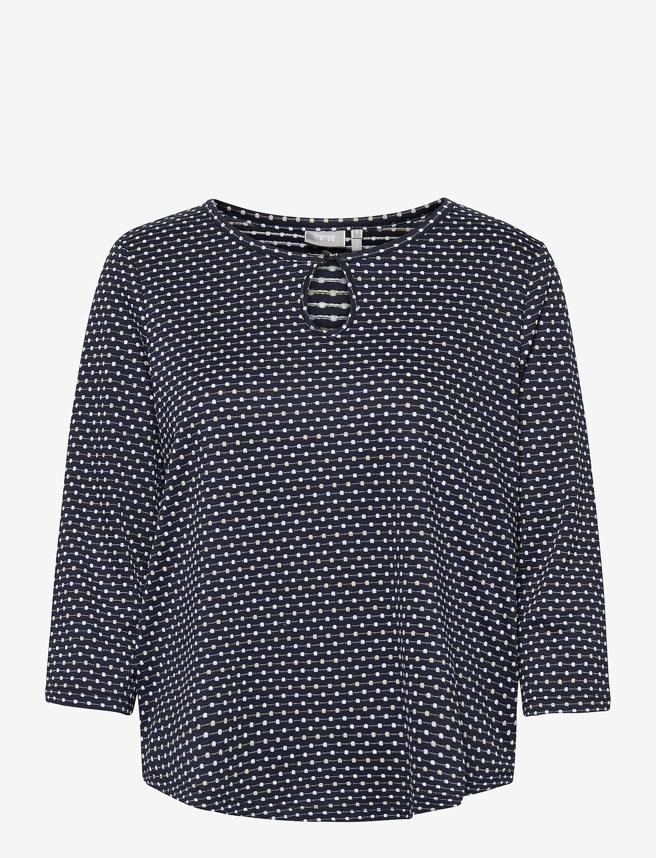Fransa - FRVEJACQ 1 Blouse - blouses met lange mouwen - navy blazer mix - 0