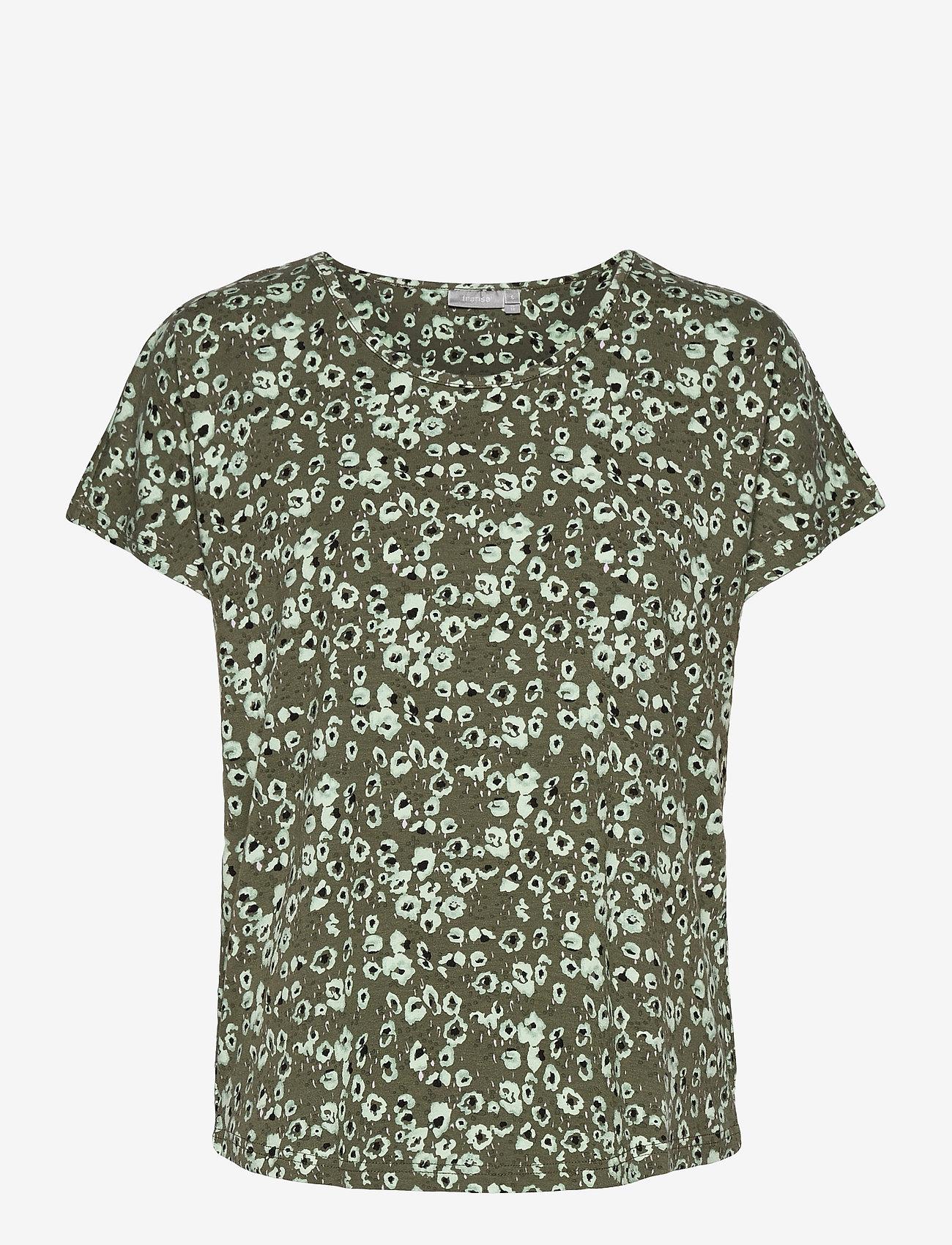 Fransa - FRVEDOT 1 T-shirt - t-shirts - hedge mix - 0