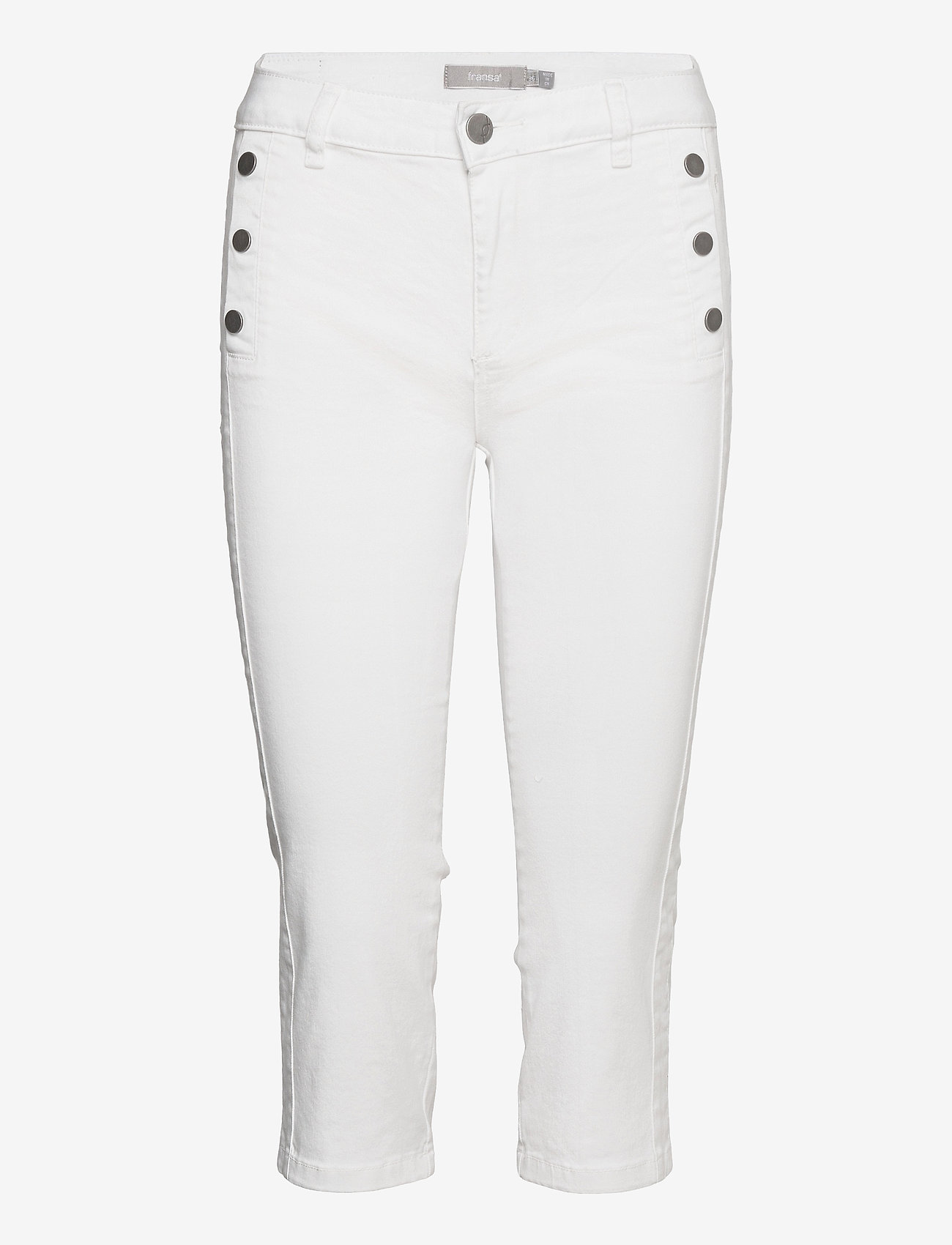 Fransa - FRVOMAX 2 Pants - capribroek - white - 0
