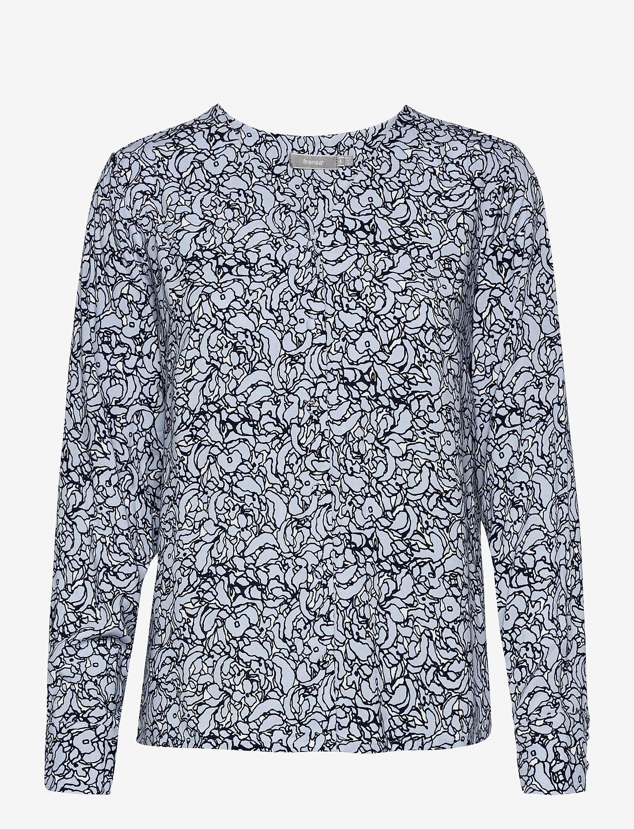 Fransa - FRVALEAF 3 Blouse - blouses met lange mouwen - cashmere blue mix - 0
