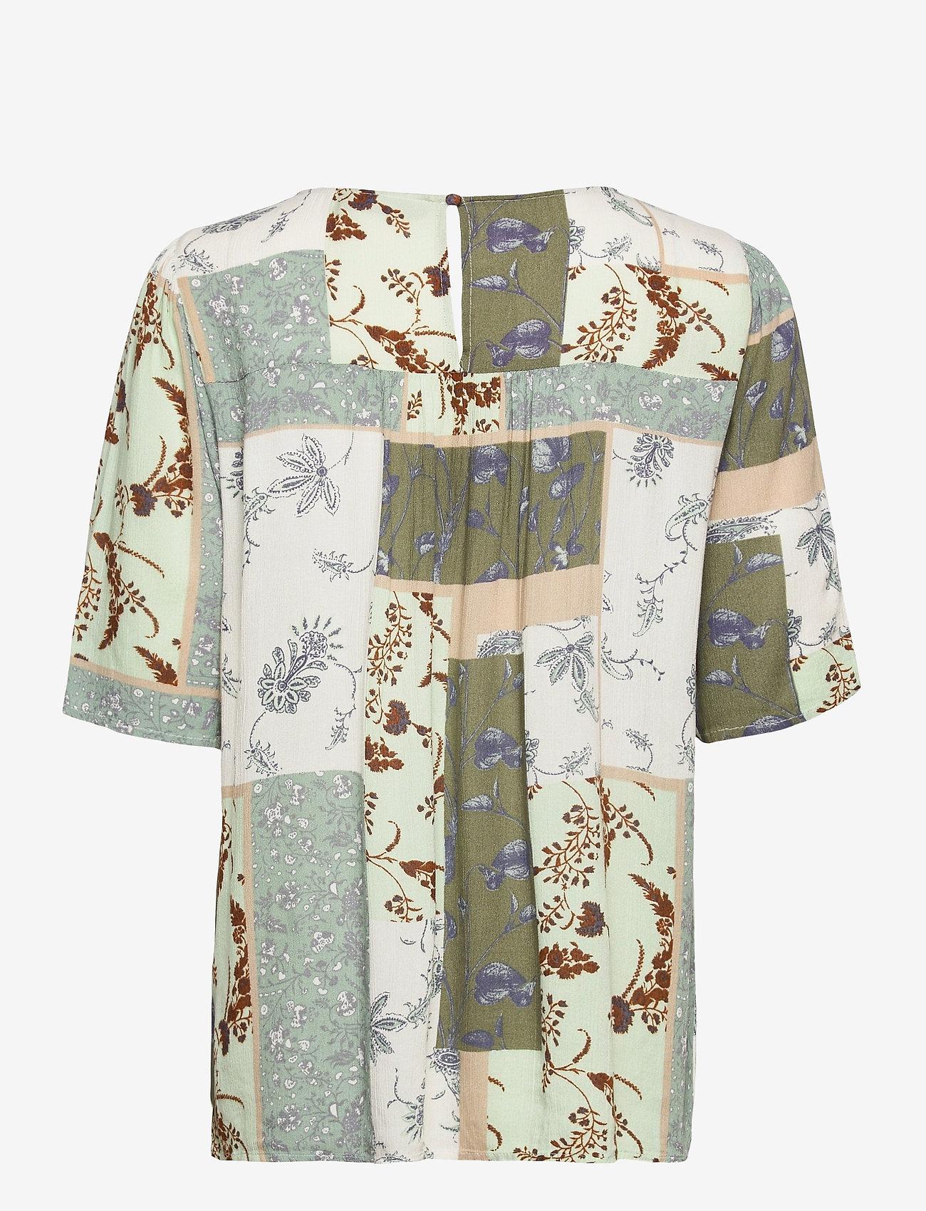 Fransa - FRVACRINKLE 3 Blouse - blouses met korte mouwen - aqua foam mix - 1