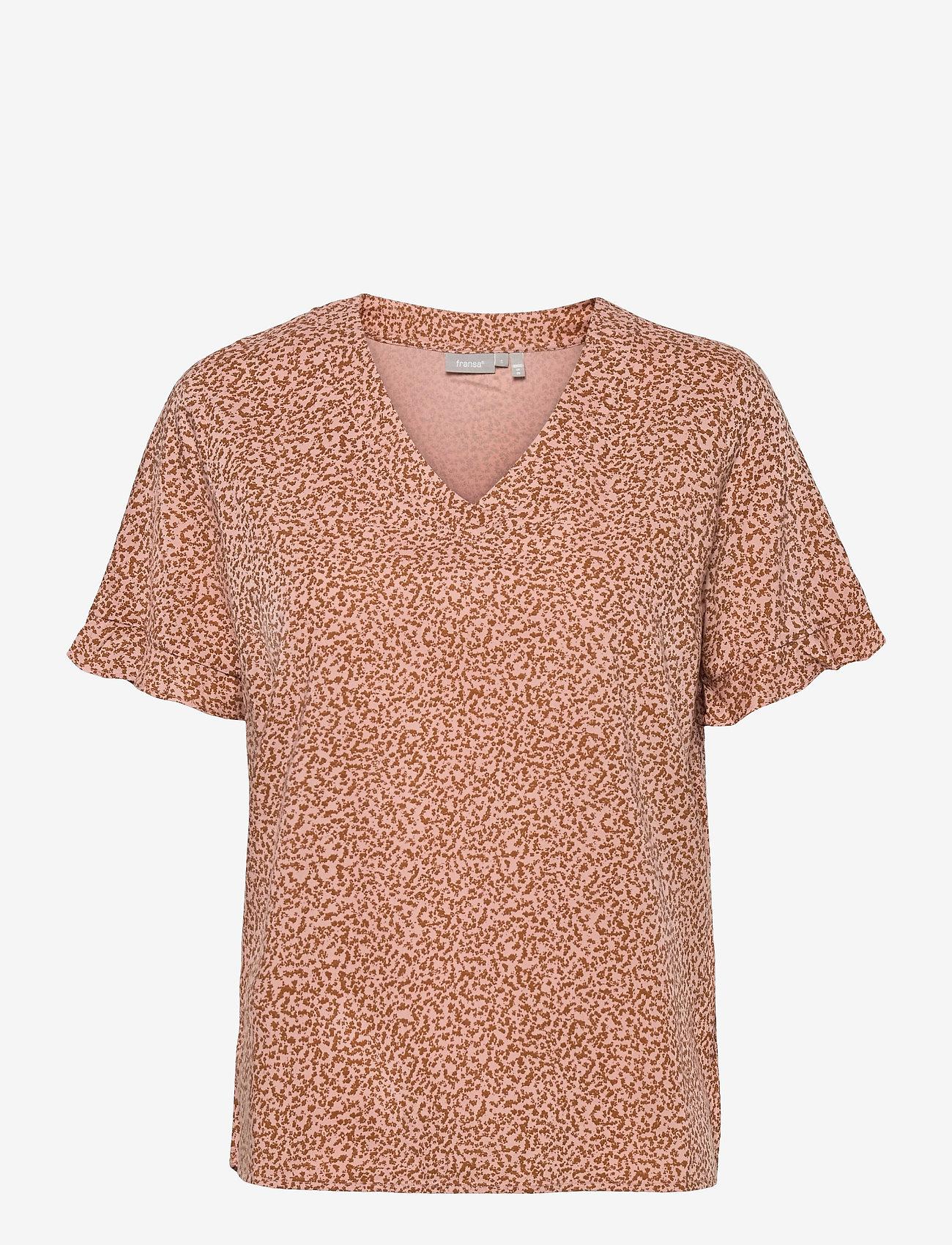 Fransa - FRVARILLI 2 Blouse - blouses met korte mouwen - misty rose mix - 0