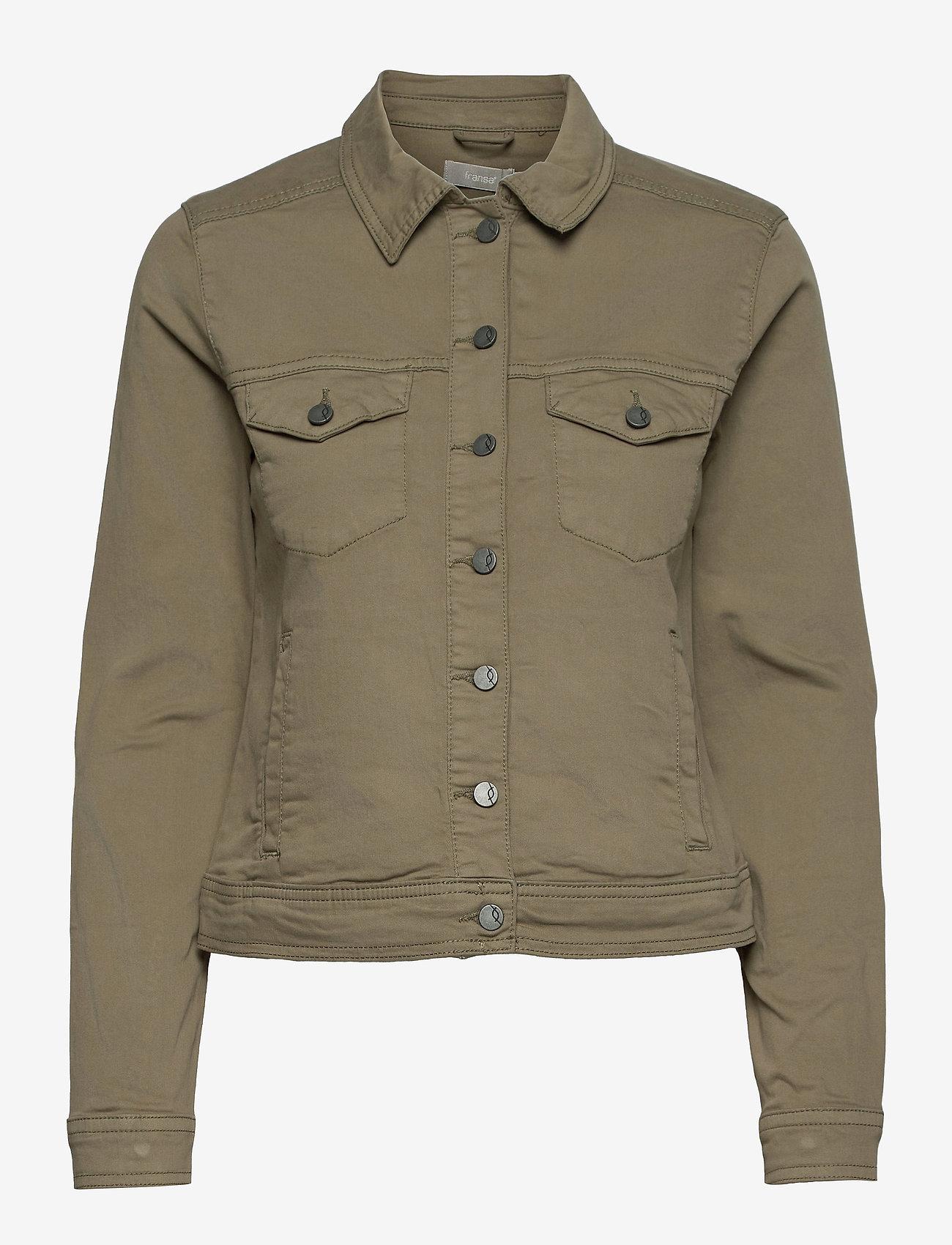 Fransa - FRVOTWILL 1 Jacket - spijkerjassen - hedge - 0