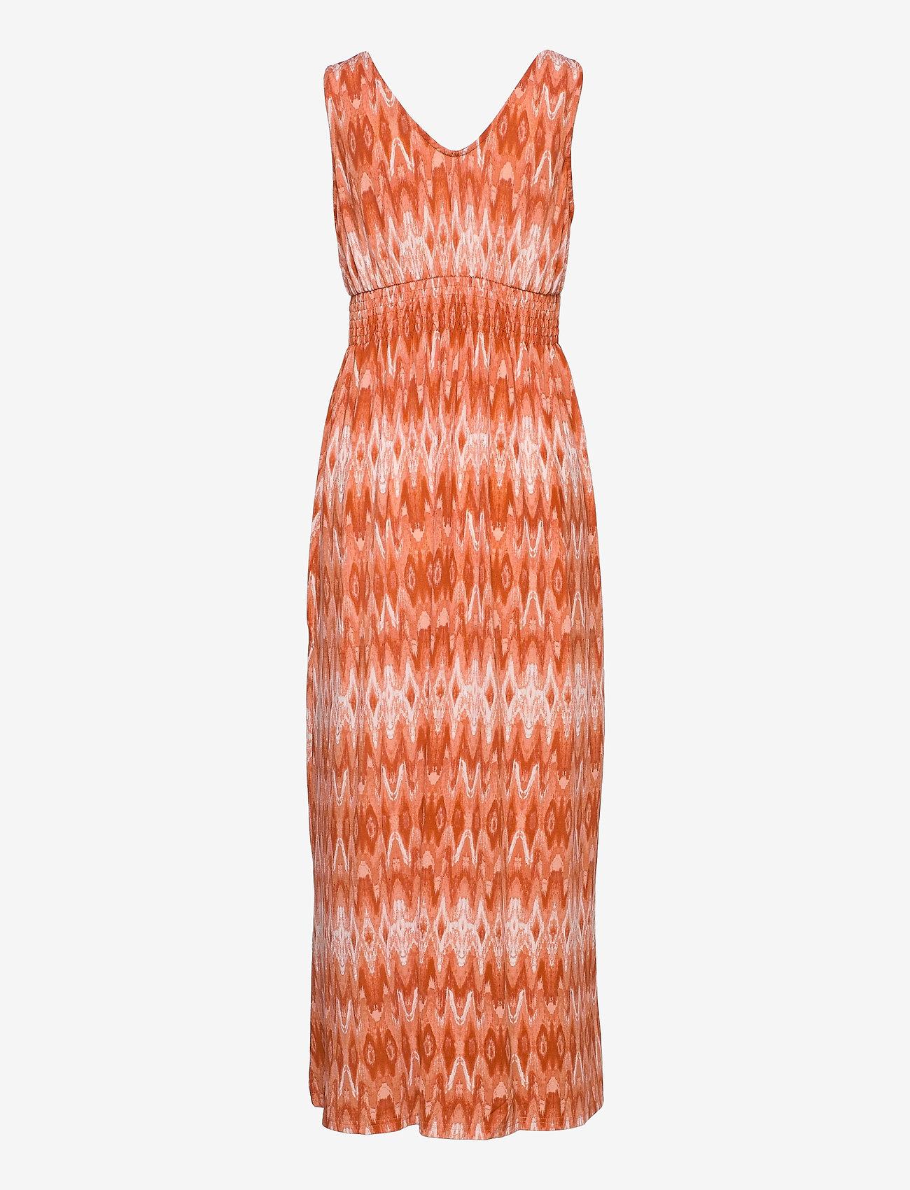Fransa - FRAMSELFA 2 Dress - zomerjurken - dusty orange mix - 1