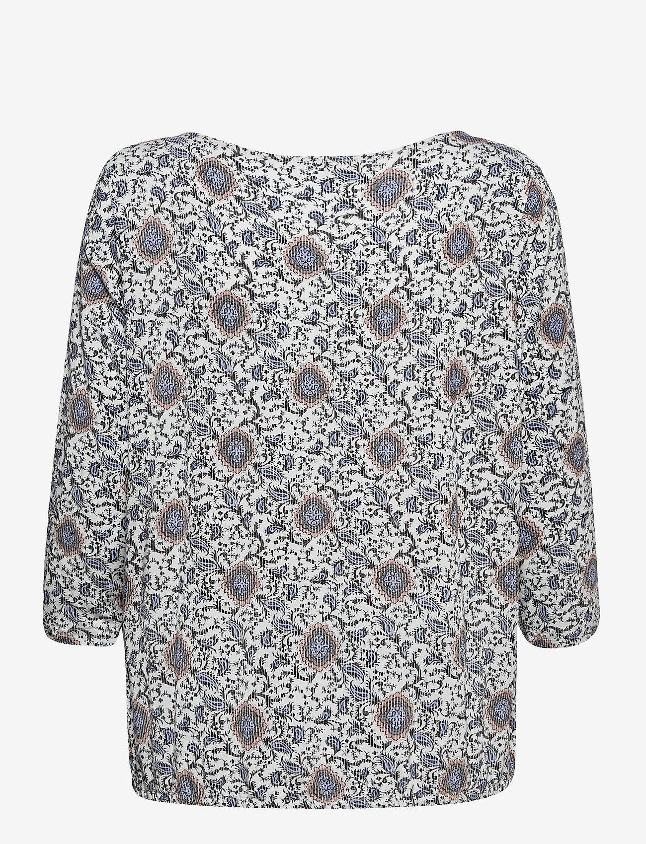 Fransa - FRPEFLORAL 1 T-shirt - pitkähihaiset t-paidat - blue flower mix - 1