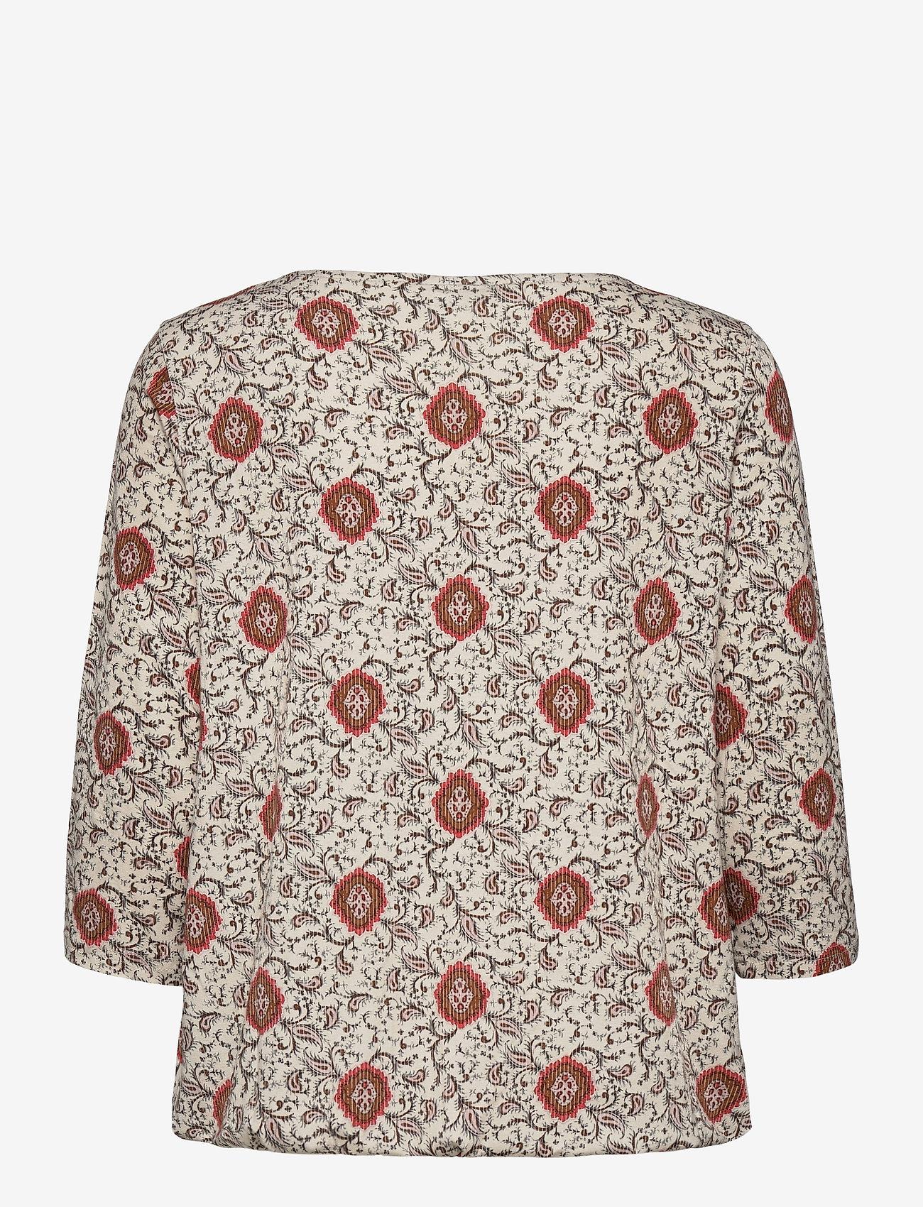 Fransa - FRPEFLORAL 1 T-shirt - pitkähihaiset t-paidat - red flower mix - 1