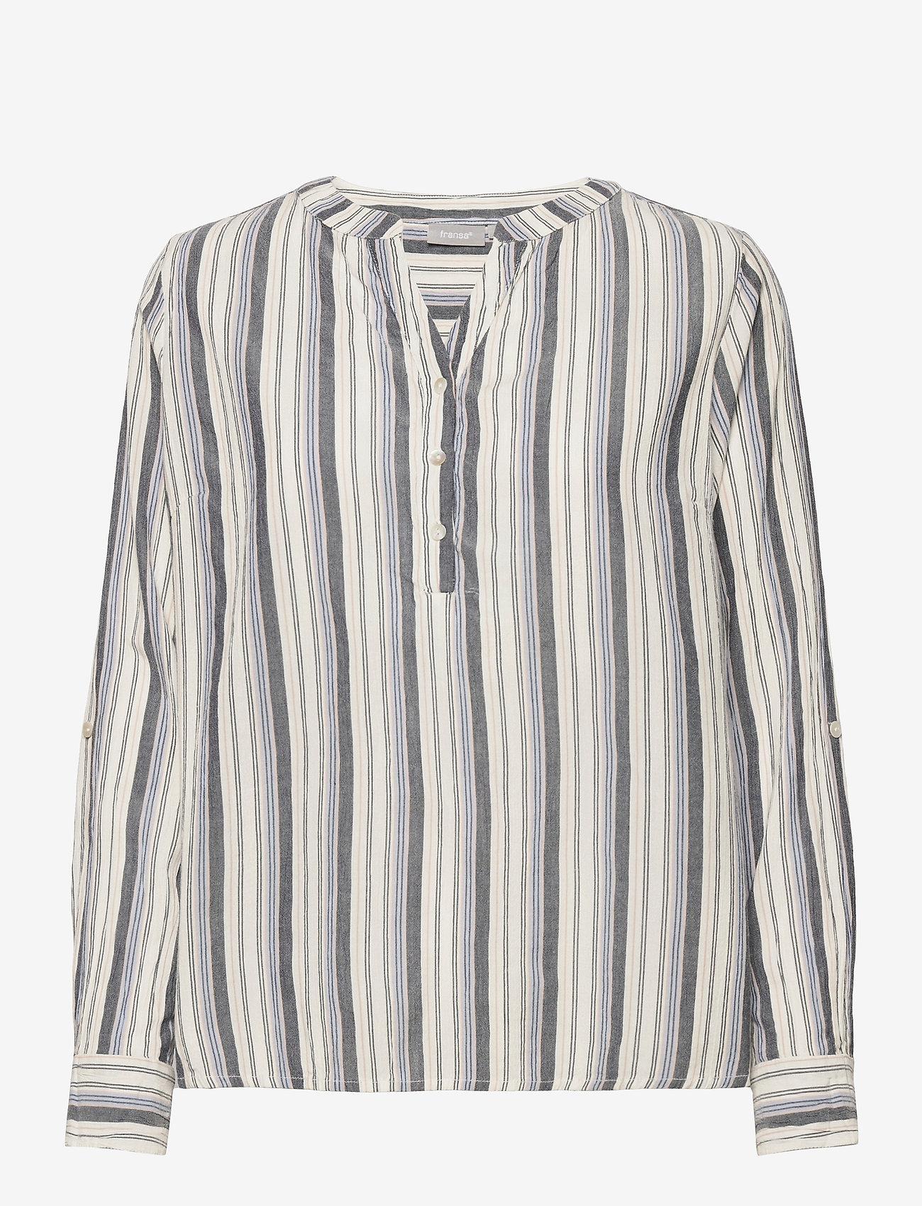Fransa - FRVAVIS 2 Blouse - blouses met lange mouwen - navy blazer mix - 0