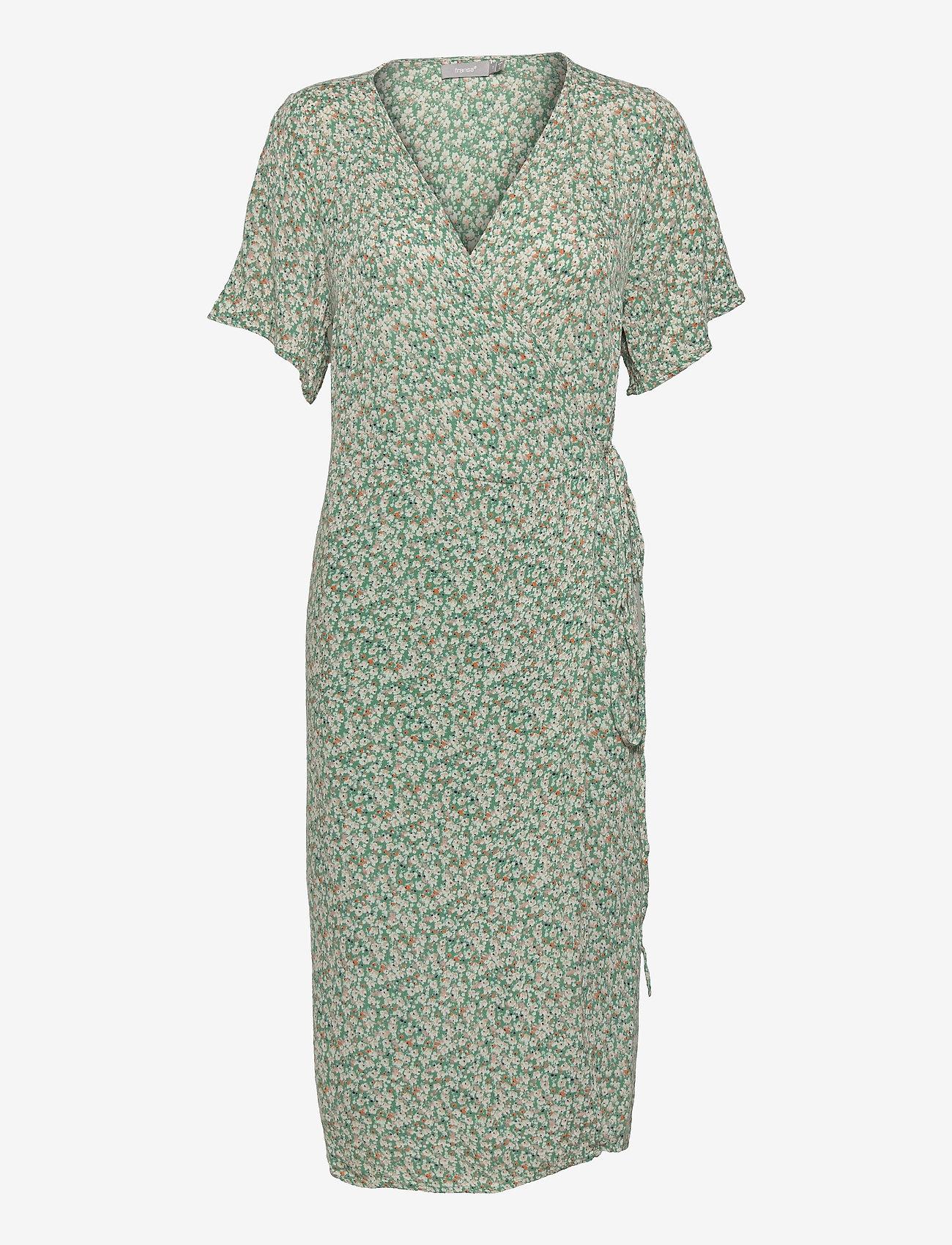 Fransa - FRALCRINKLE 2 Dress - zomerjurken - clover green mix - 0