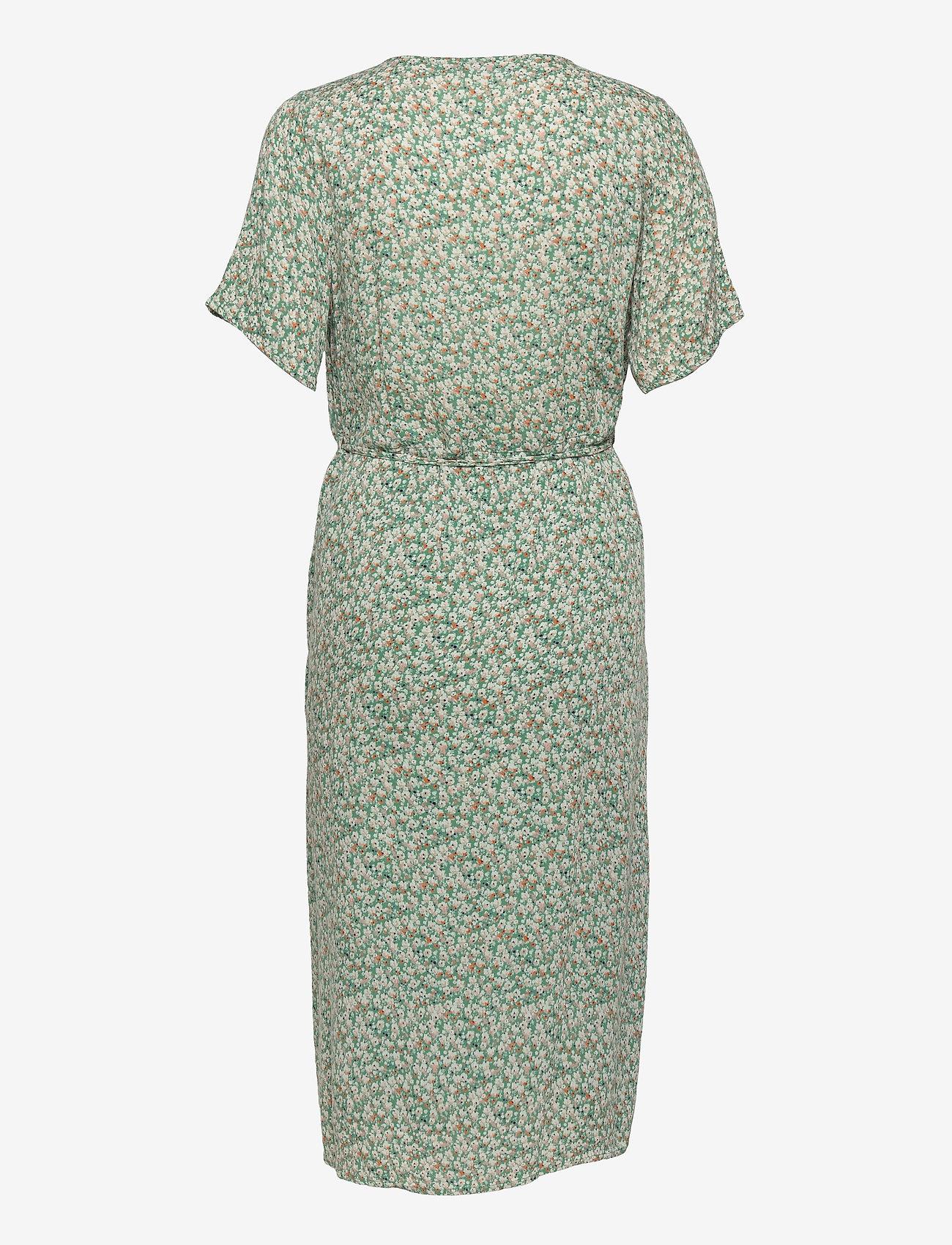 Fransa - FRALCRINKLE 2 Dress - zomerjurken - clover green mix - 1