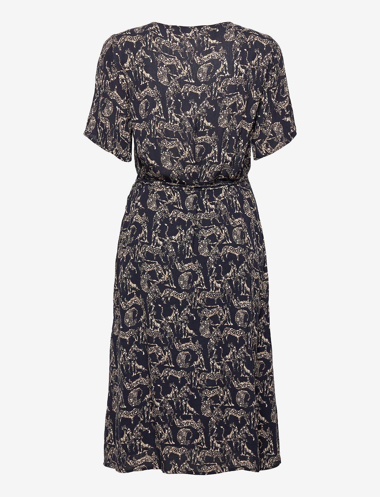 Fransa - FRALCRINKLE 2 Dress - zomerjurken - navy blazer mix - 1