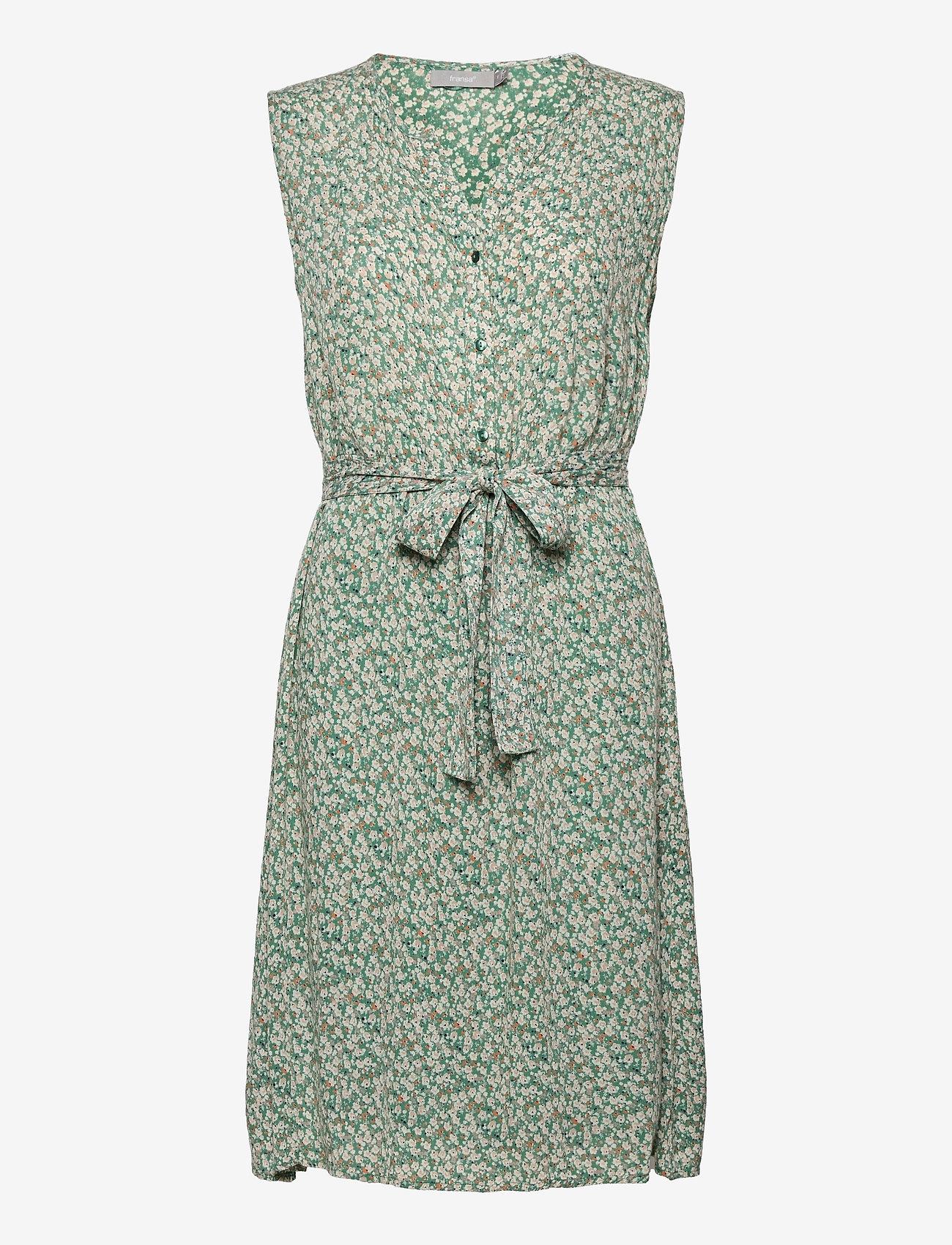 Fransa - FRALCRINKLE 3 Dress - zomerjurken - clover green mix - 0