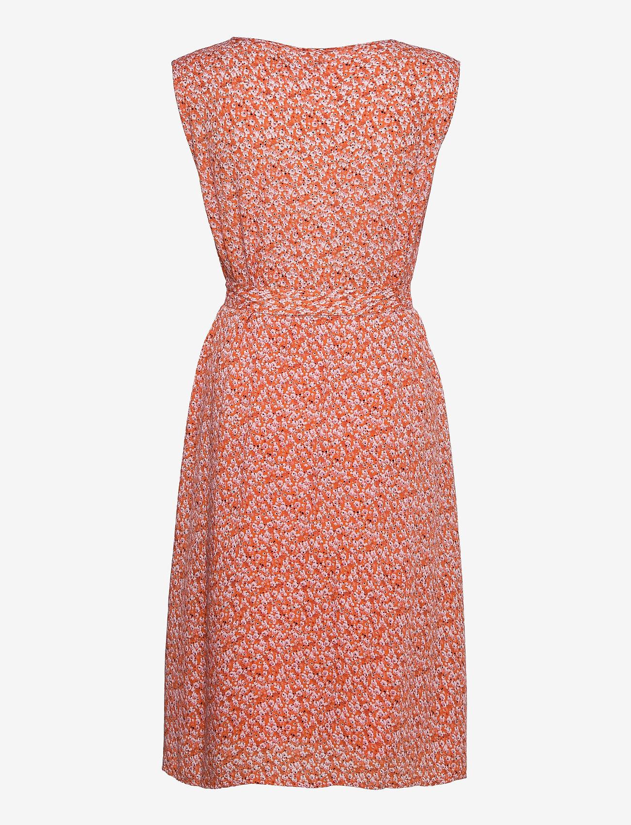 Fransa - FRALCRINKLE 3 Dress - zomerjurken - dusty orange mix - 1